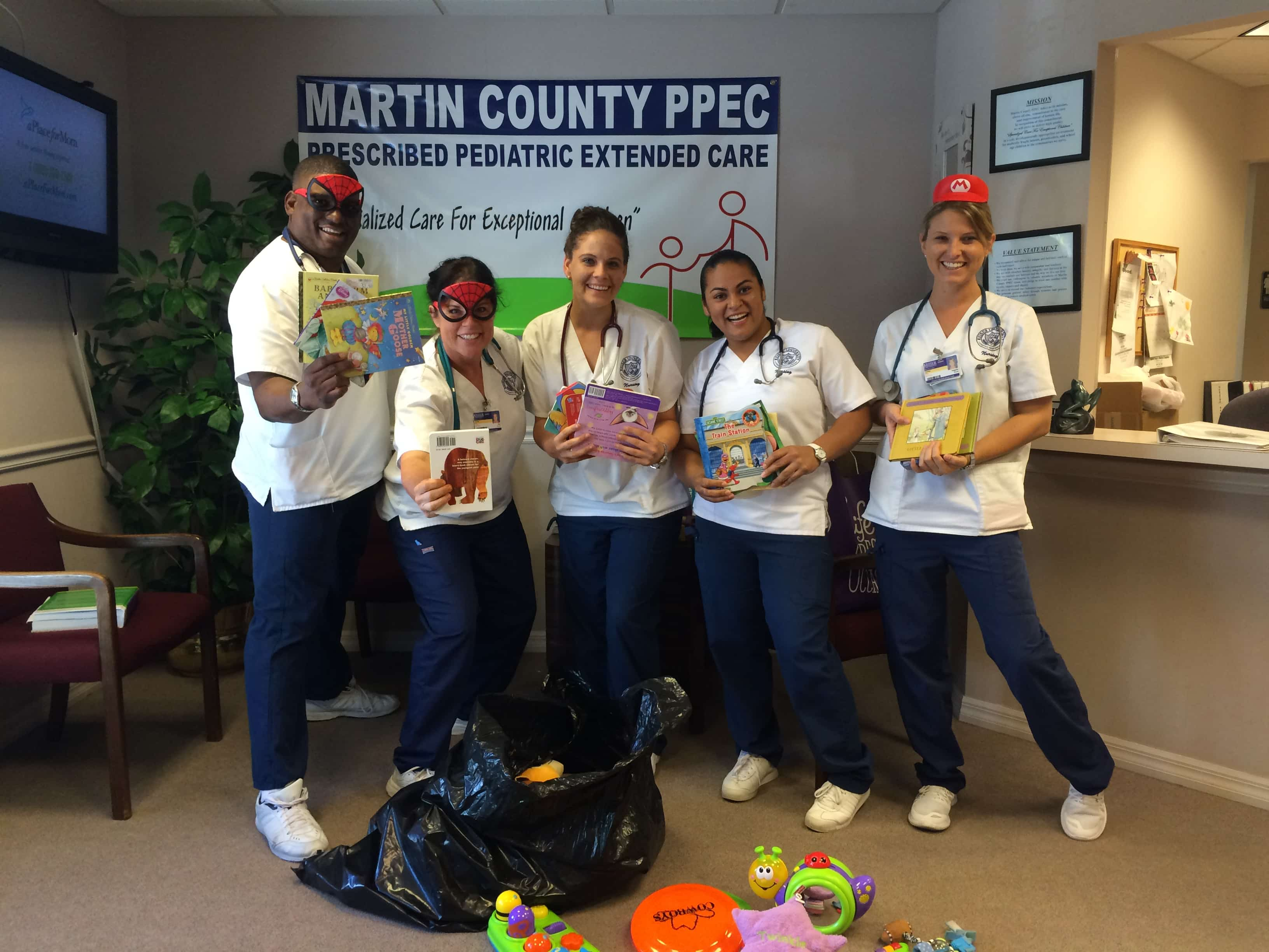 Nursing Students in Port St. Lucie Donate Toys and Books to the Martin County PPEC