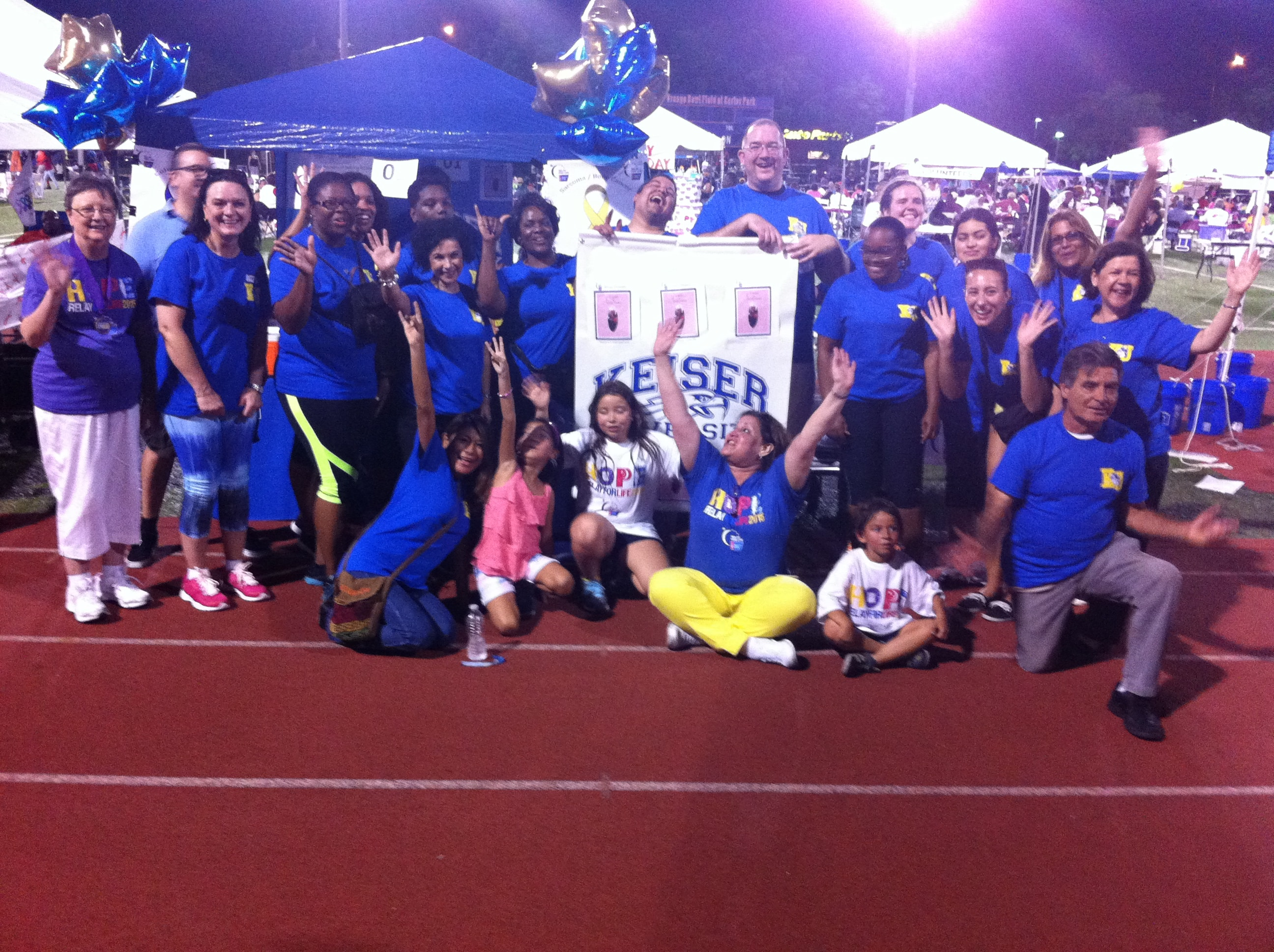 The Online Division Participates in Relay for Life in Memory of Dorothy Peterkin