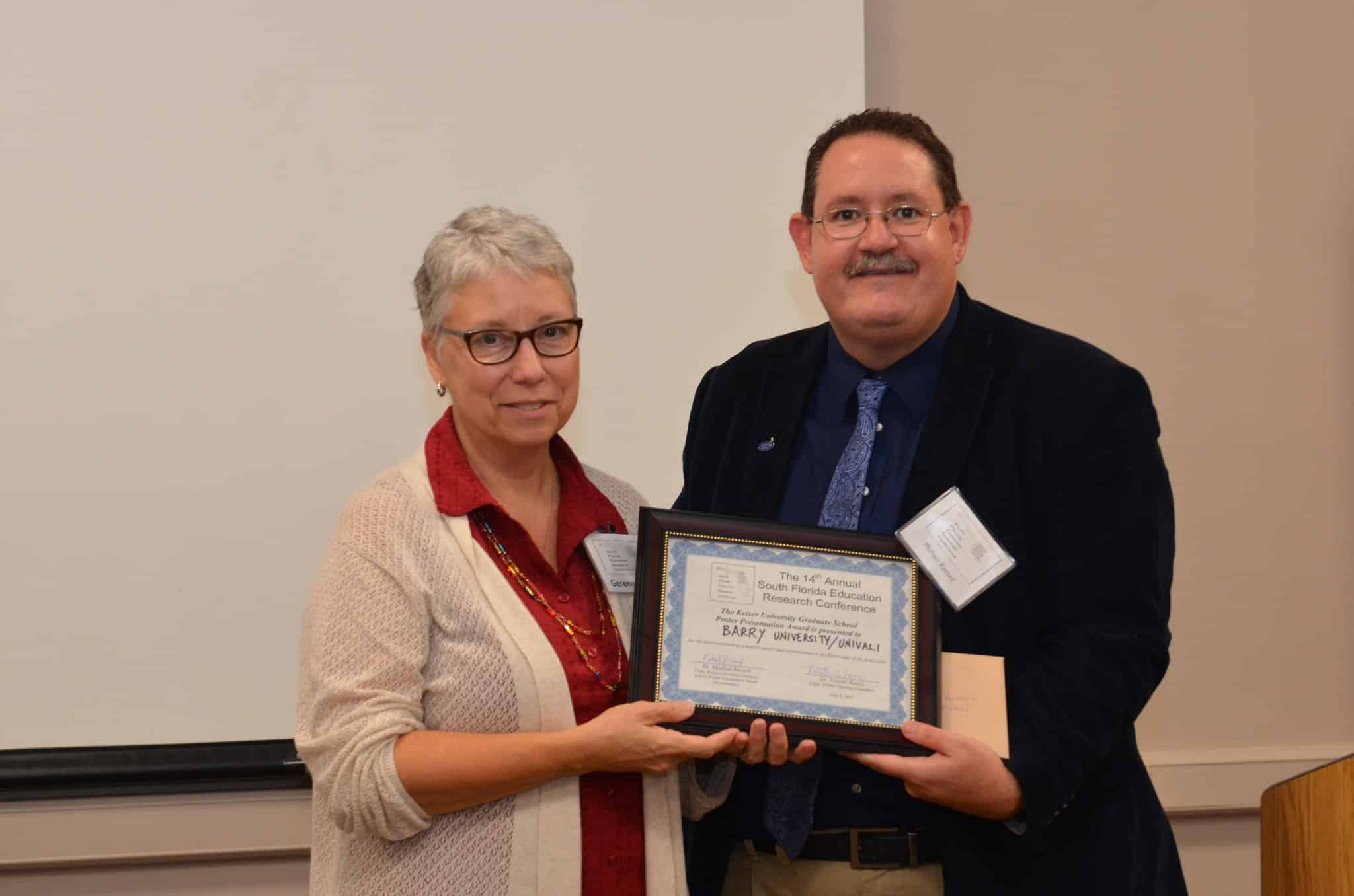 Keiser University Graduate School Award Given at Regional Research Conference