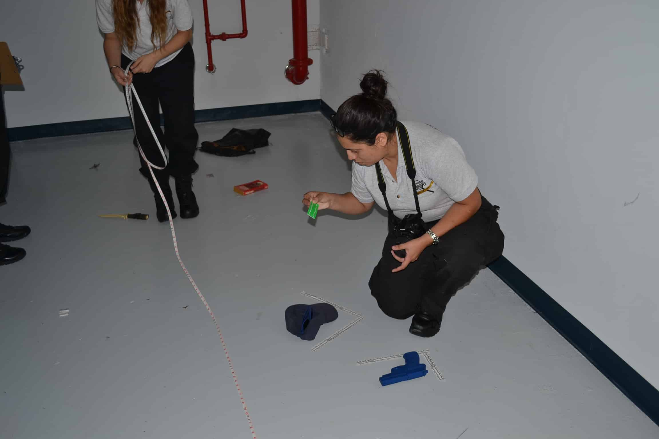 Pembroke Pines Crime Scene Technology Program Worked a Simulated Crime Scene