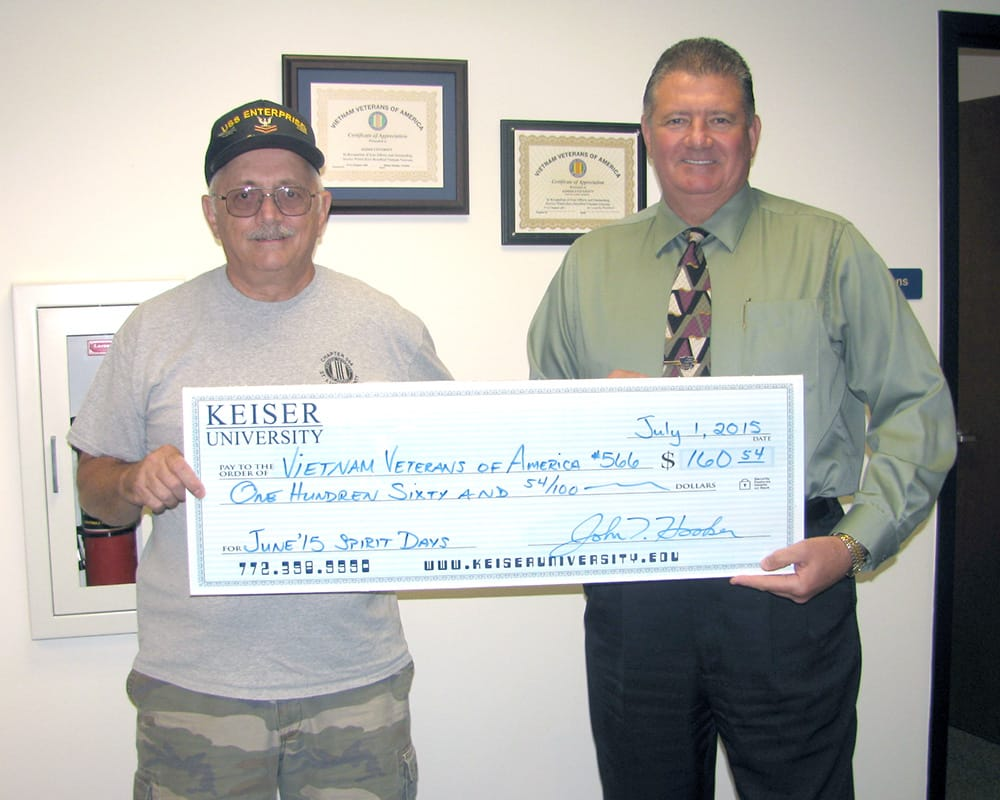 Port St. Lucie Makes a Donation to the Vietnam Veterans of America Chapter 566