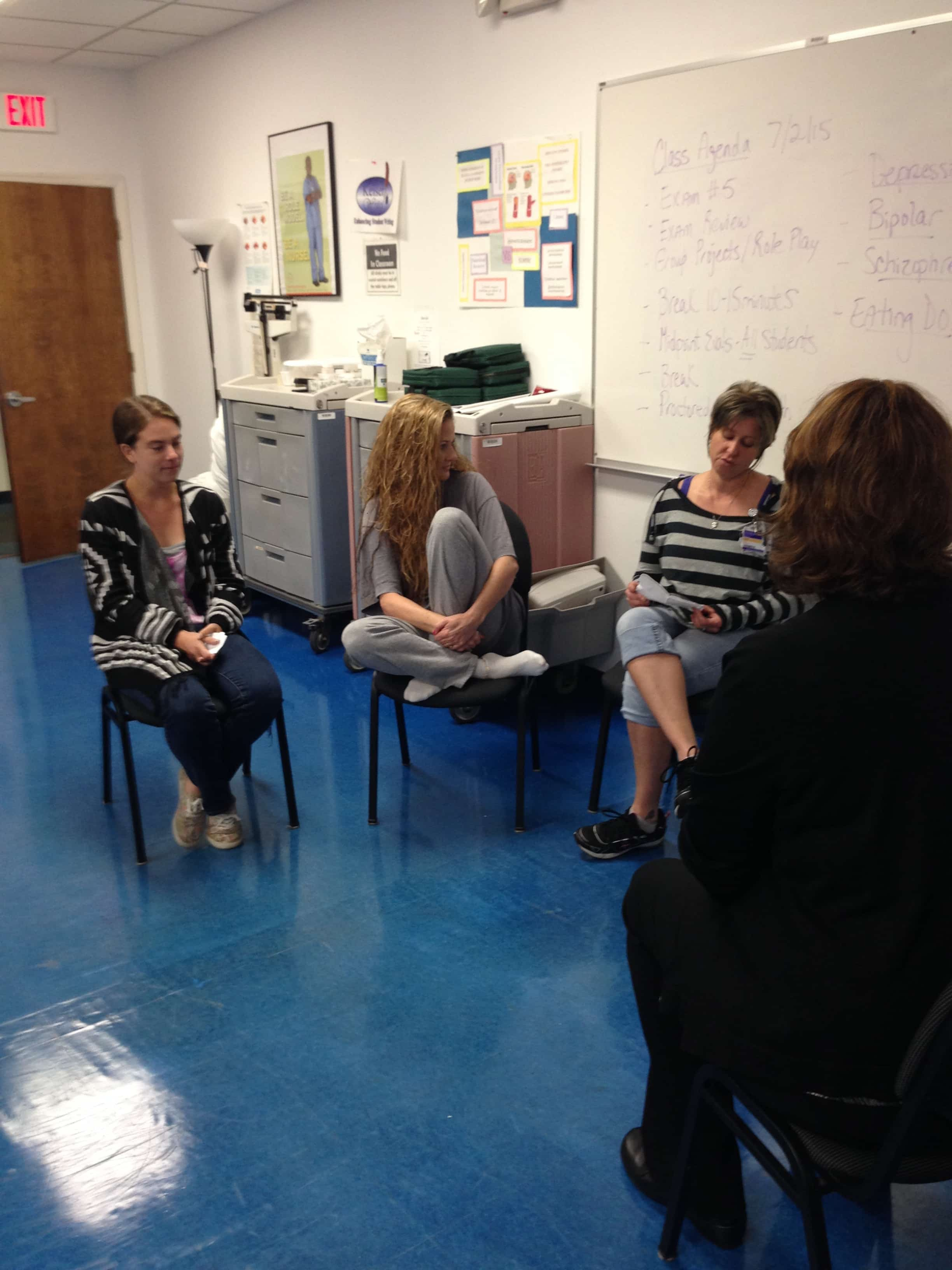 Melbourne Nursing Students Work on Scenarios for Their Mental Health Projects
