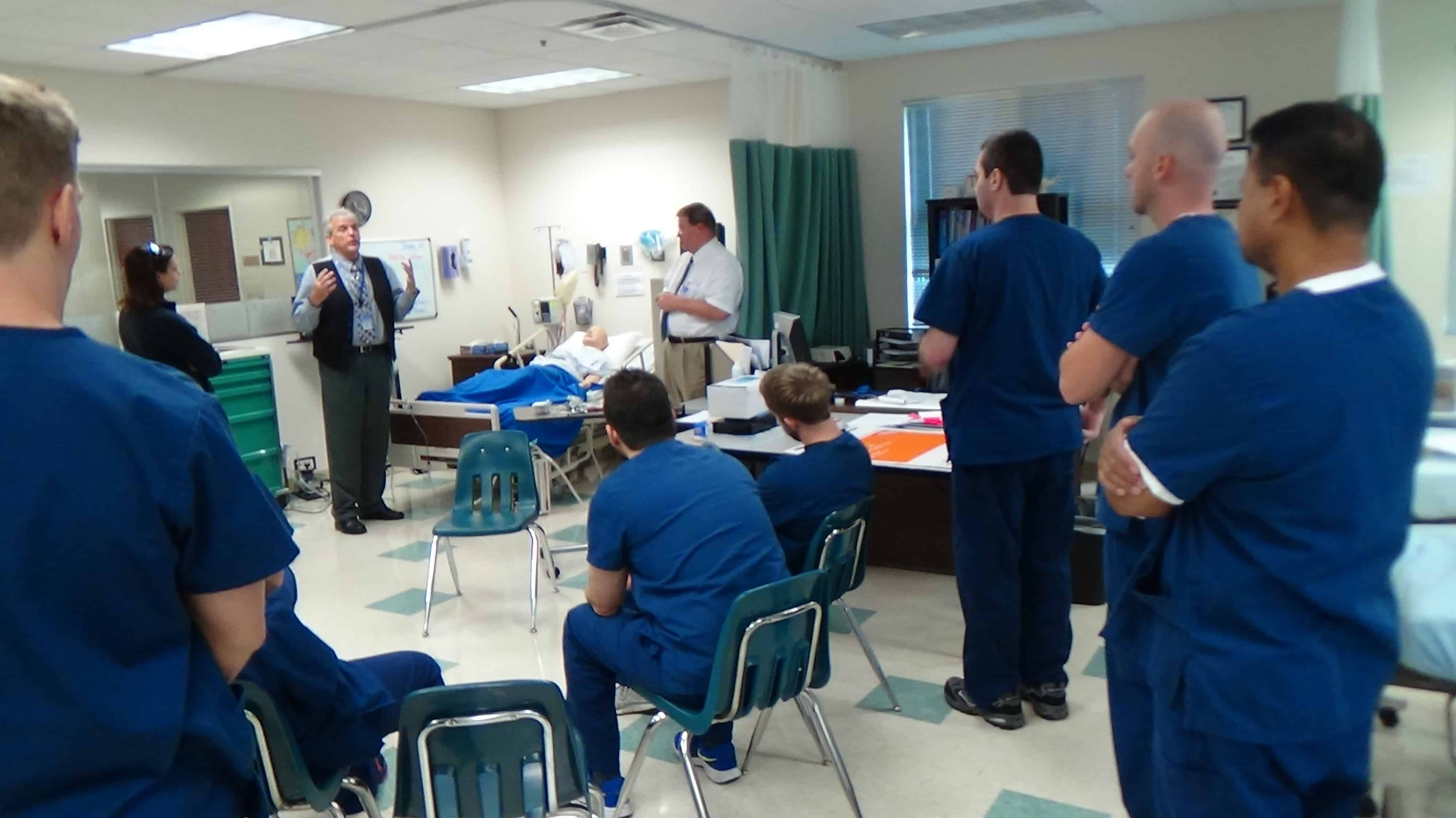 Physical Therapy Assistant Students at the Sarasota Campus Spend Time in Sim Lab