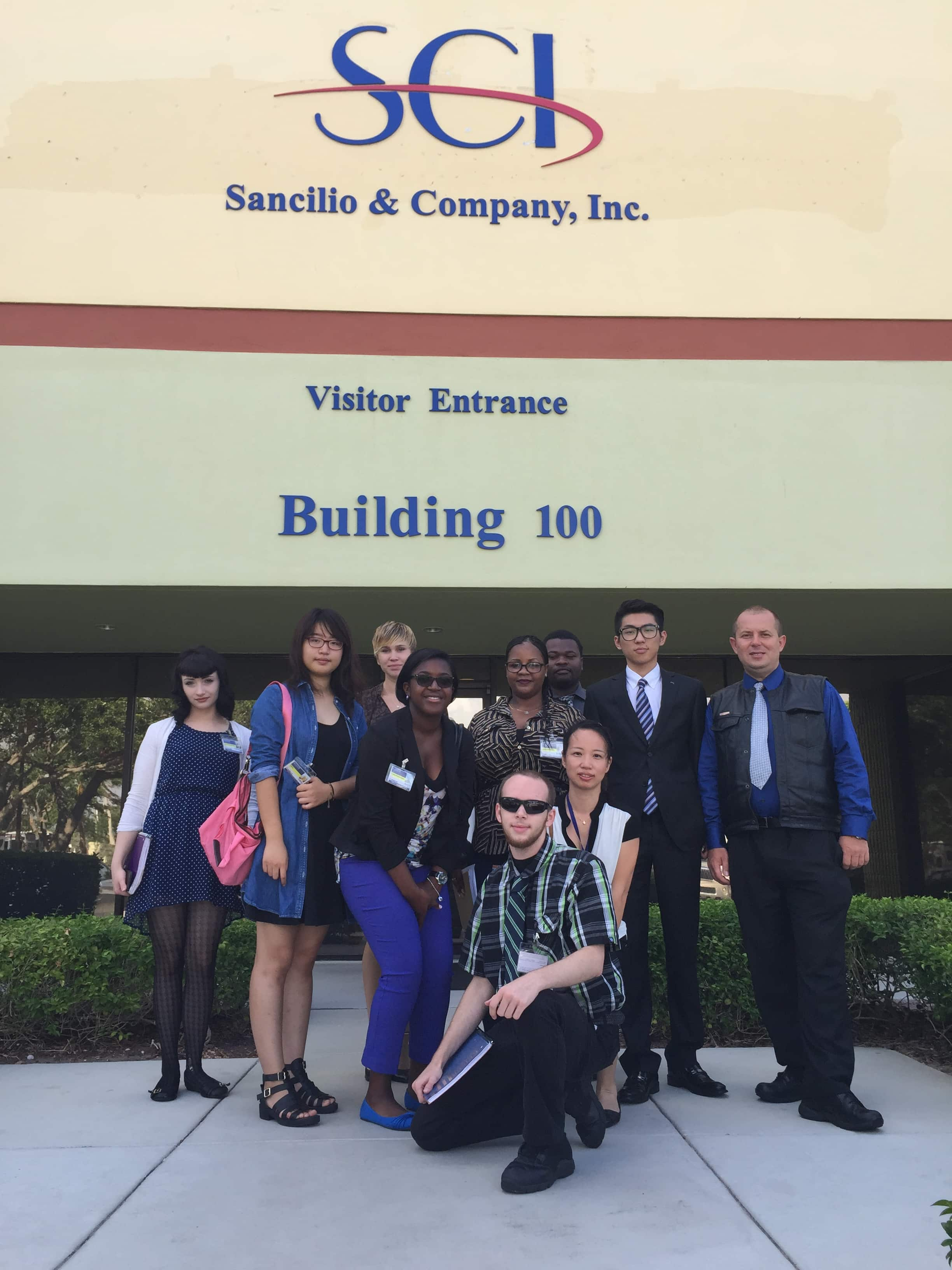 Students from the West Palm Beach Campus Tour Sancilo & Company, Inc.
