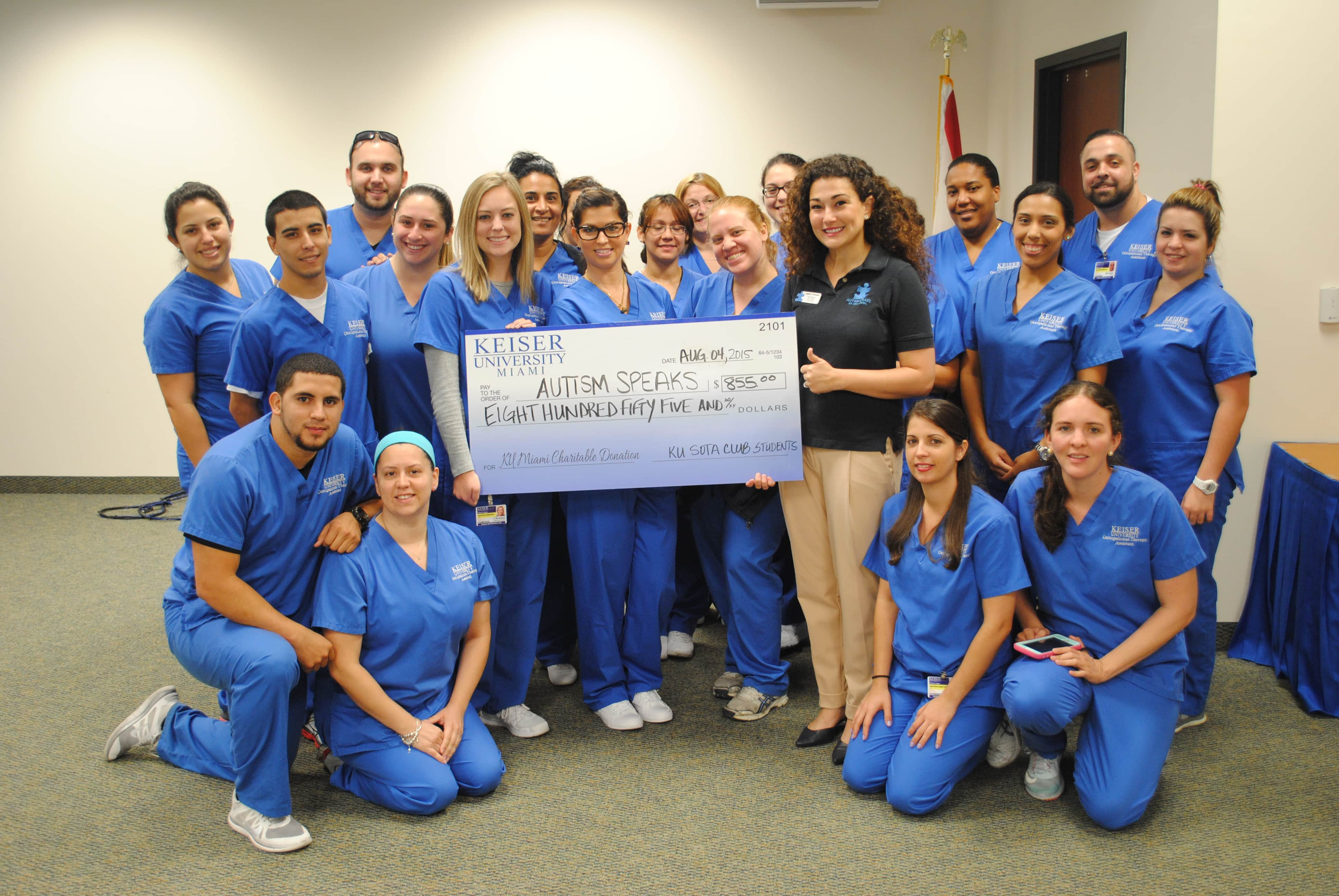 Student Occupational Therapy Assistant Club Raised Money for Autism Speaks