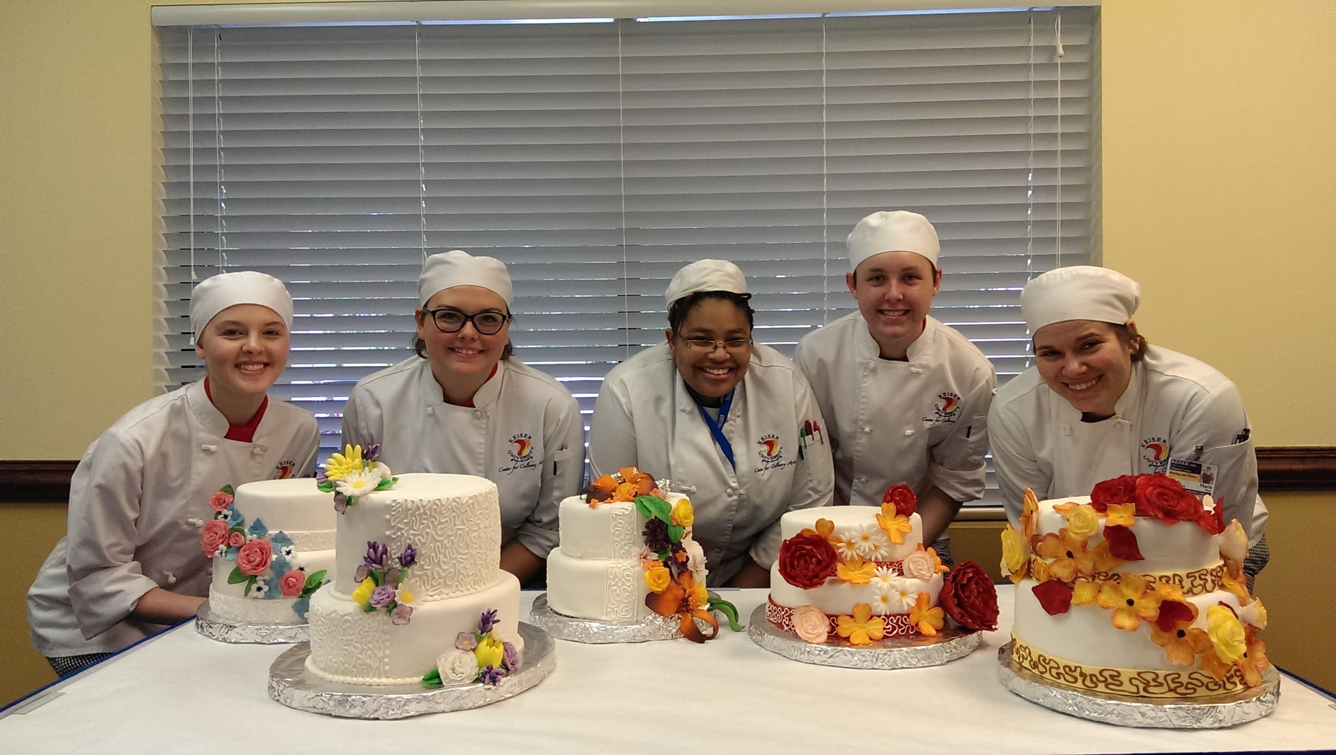 Tallahassee Culinary Arts Students Work on Wedding Cakes