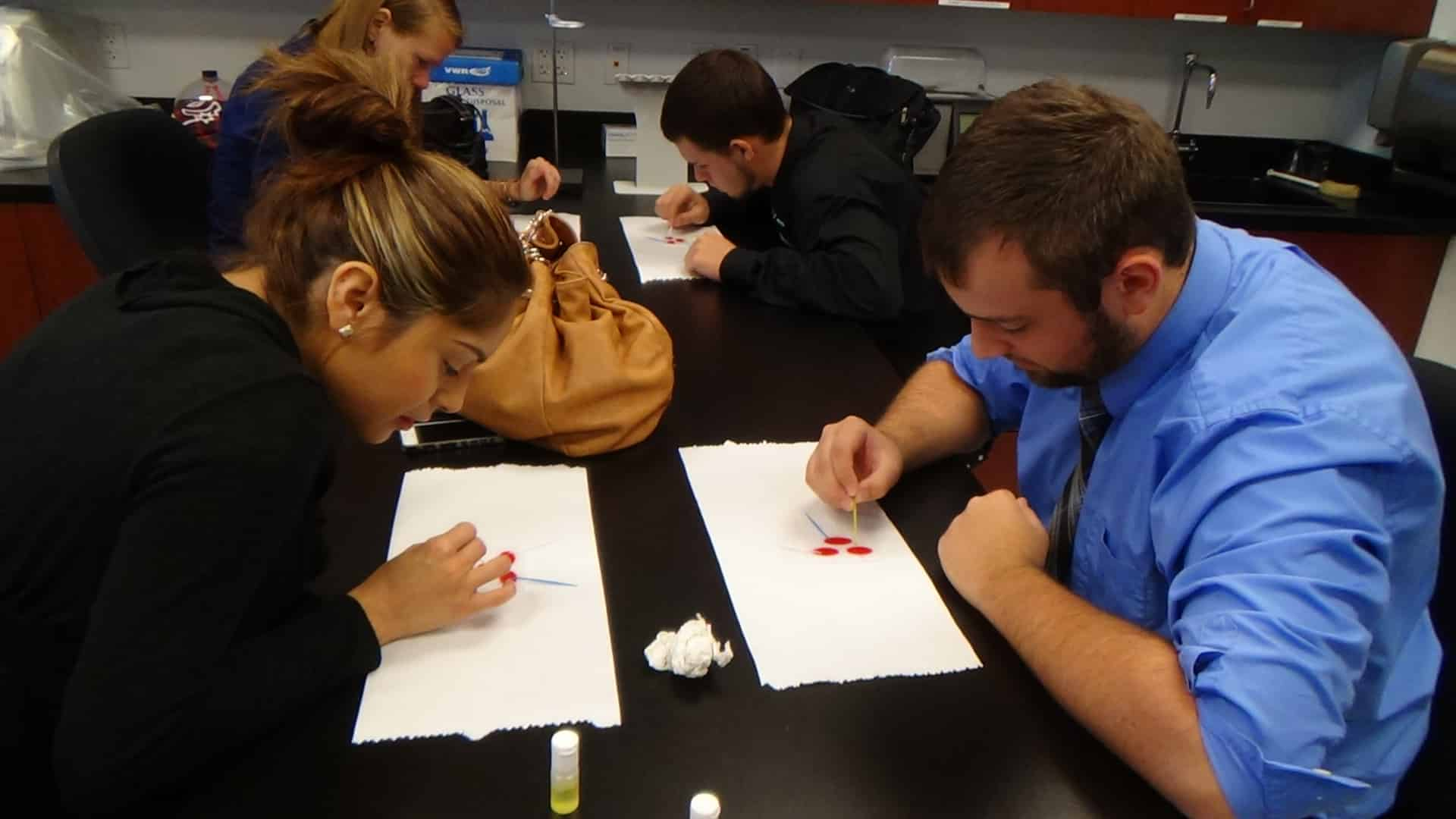 Fort Myers Students Learn Blood-Typing