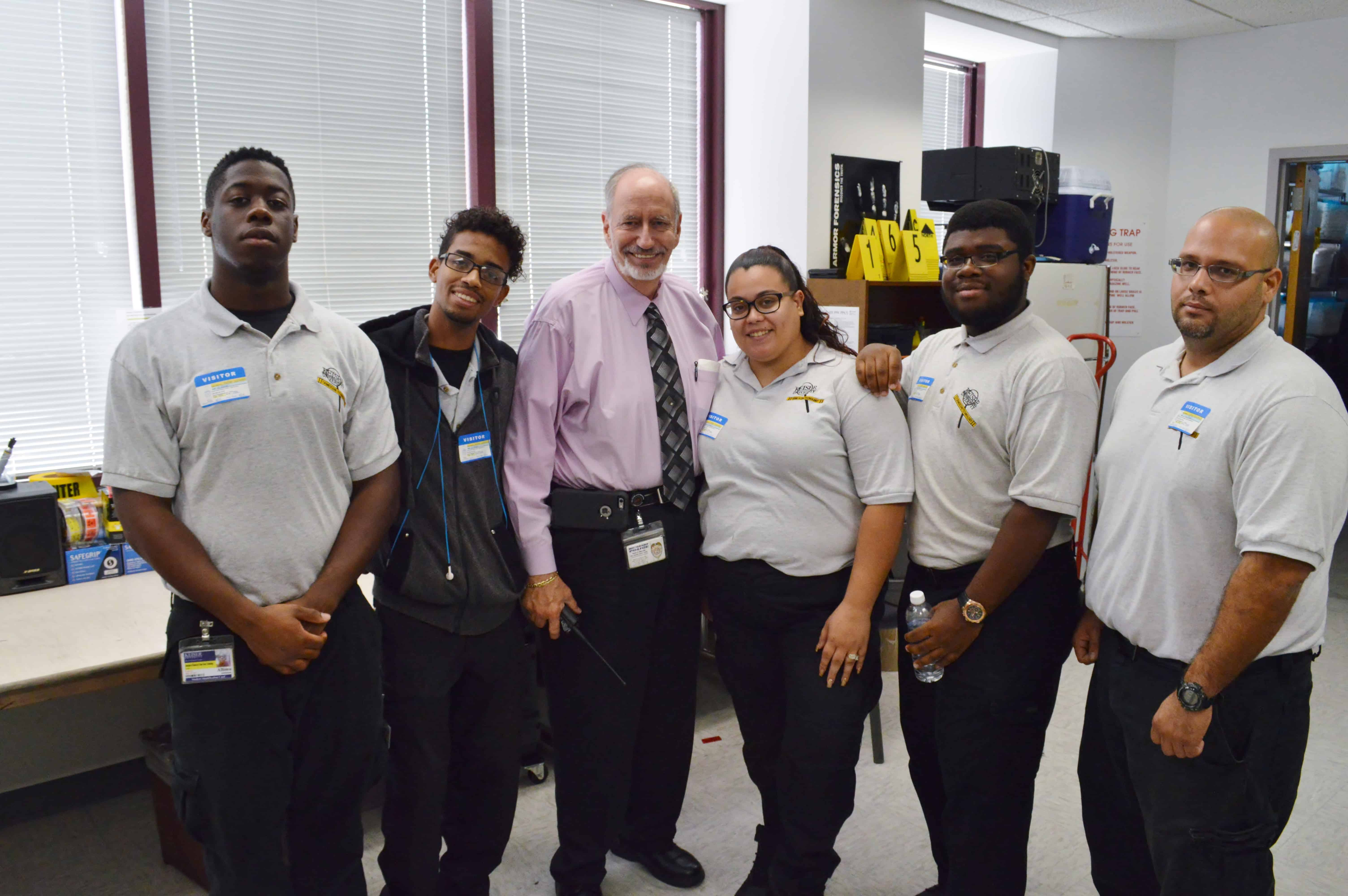 West Palm Beach CST Students Visit the Police Department Crime Scene Unit
