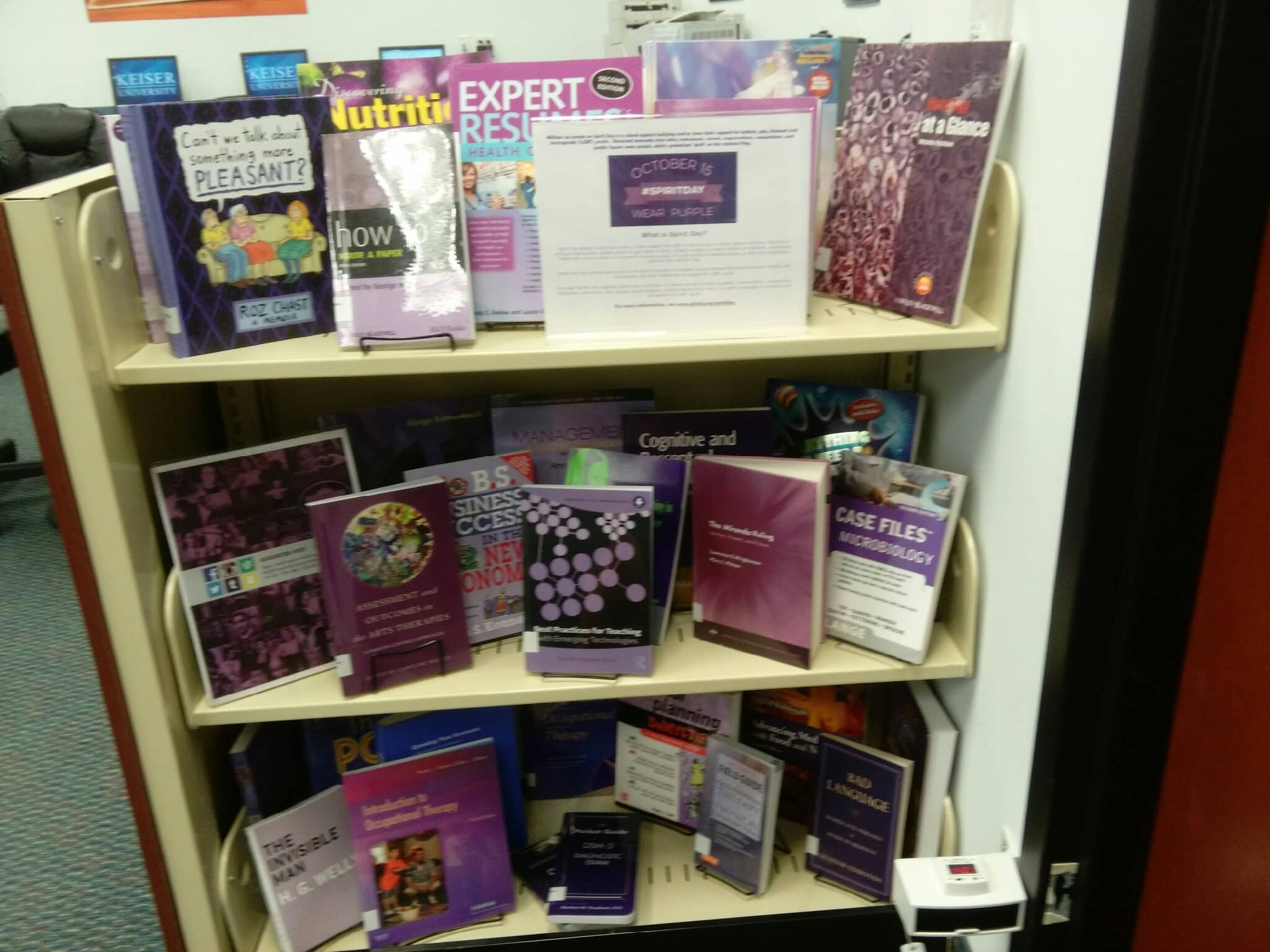 Fort Myers Campus Library Creates Book Display For GLAAD's Spirit Day 2015