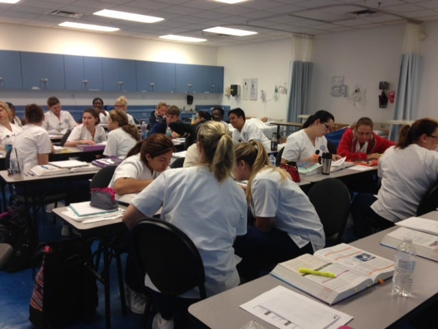 "Nursing Students at the Melbourne Campus ""Flip the Classroom"""