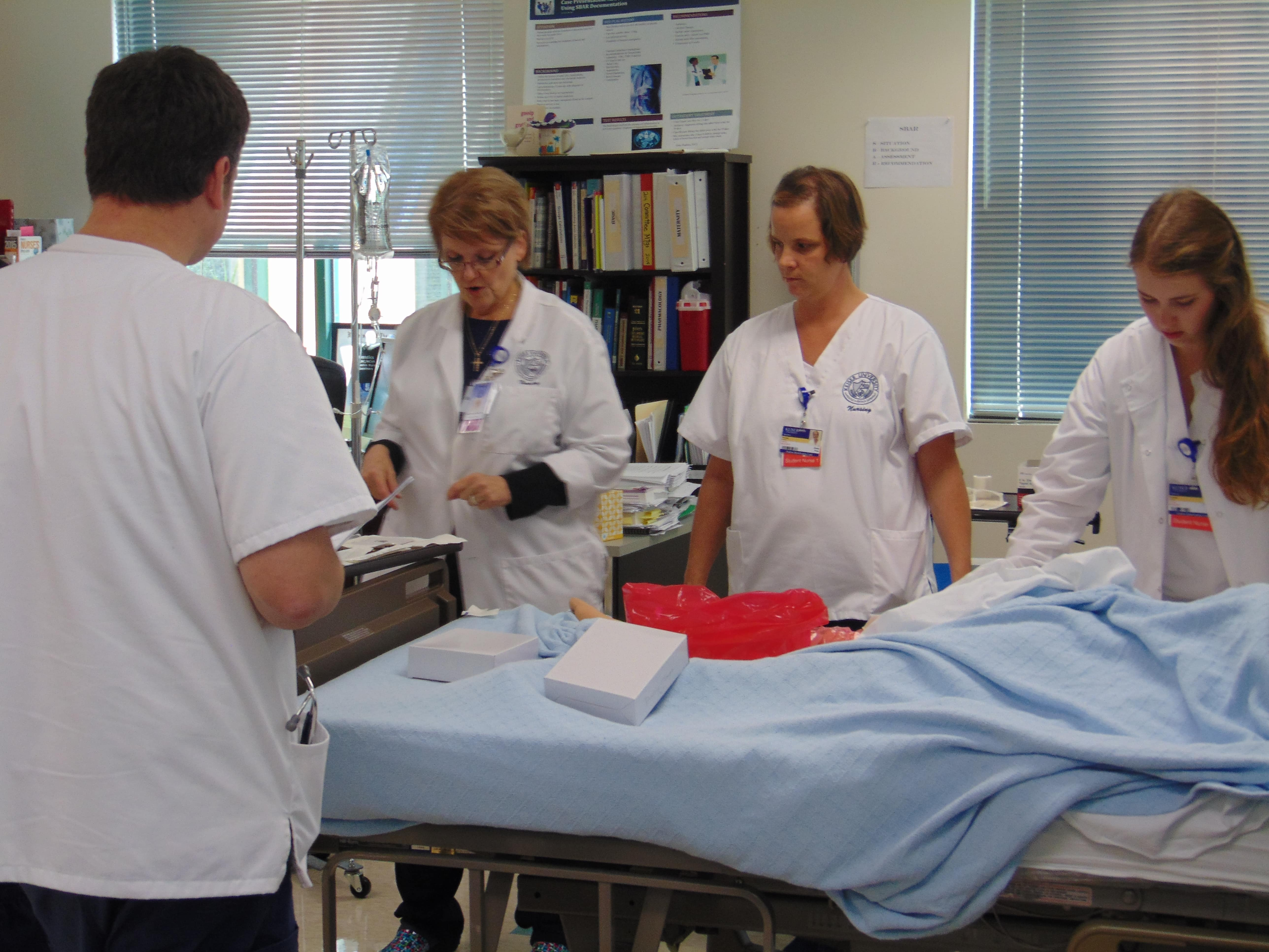 Sarasota Nursing Students Learn Basic Care