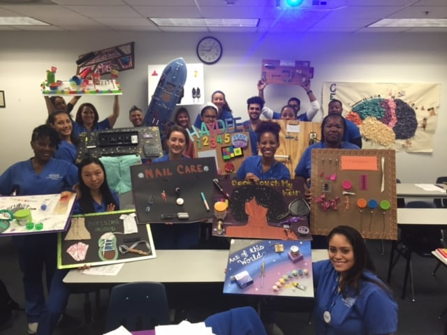 OTA Students at the Ft. Lauderdale Campus Create a Preparatory Task