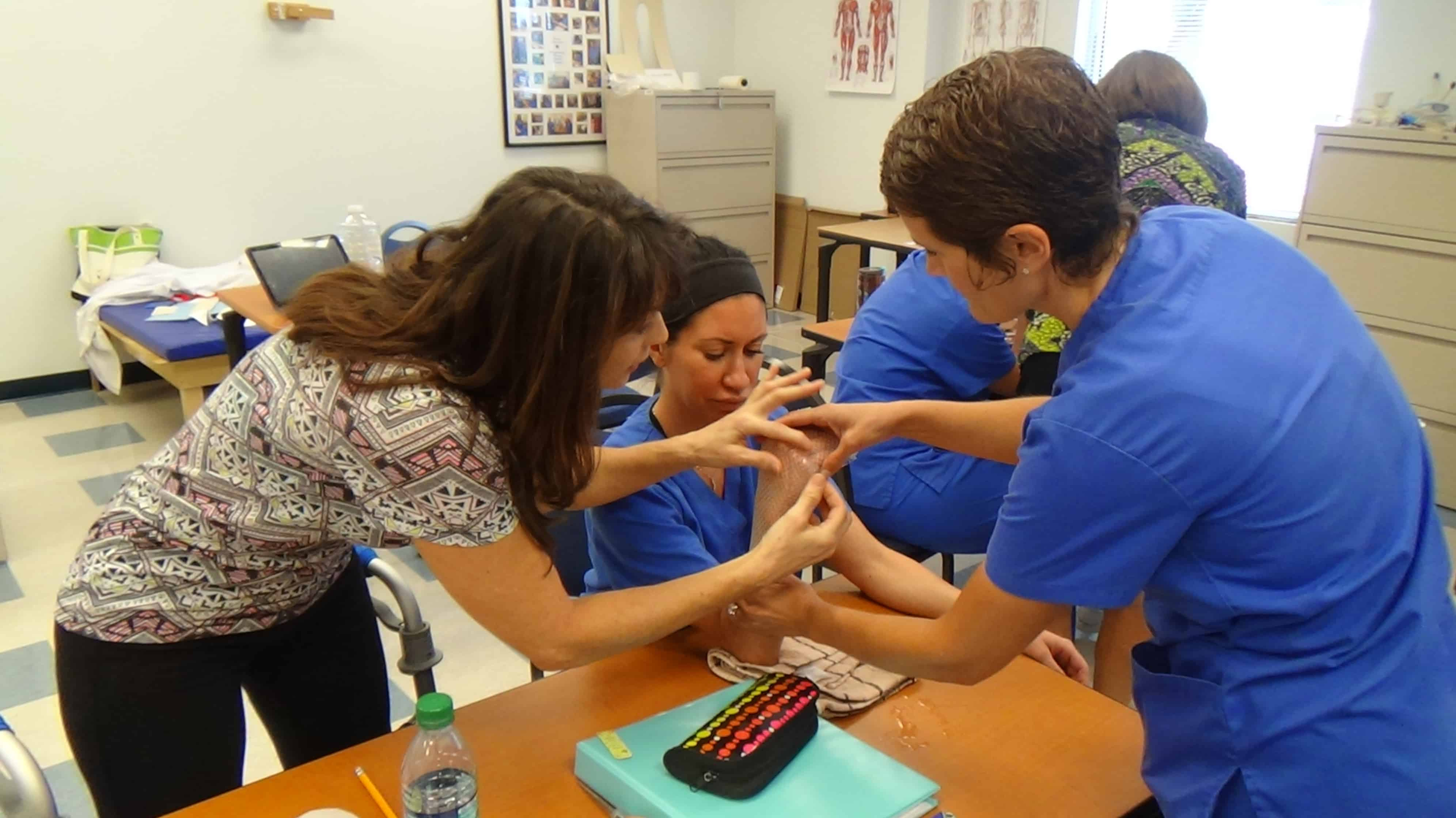OTA Students in Ft. Myers Learn Splinting Techniques