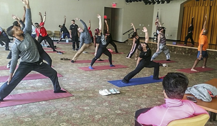 Tampa Holds Collaborative Sports Medicine and Fitness Technology Yoga Class