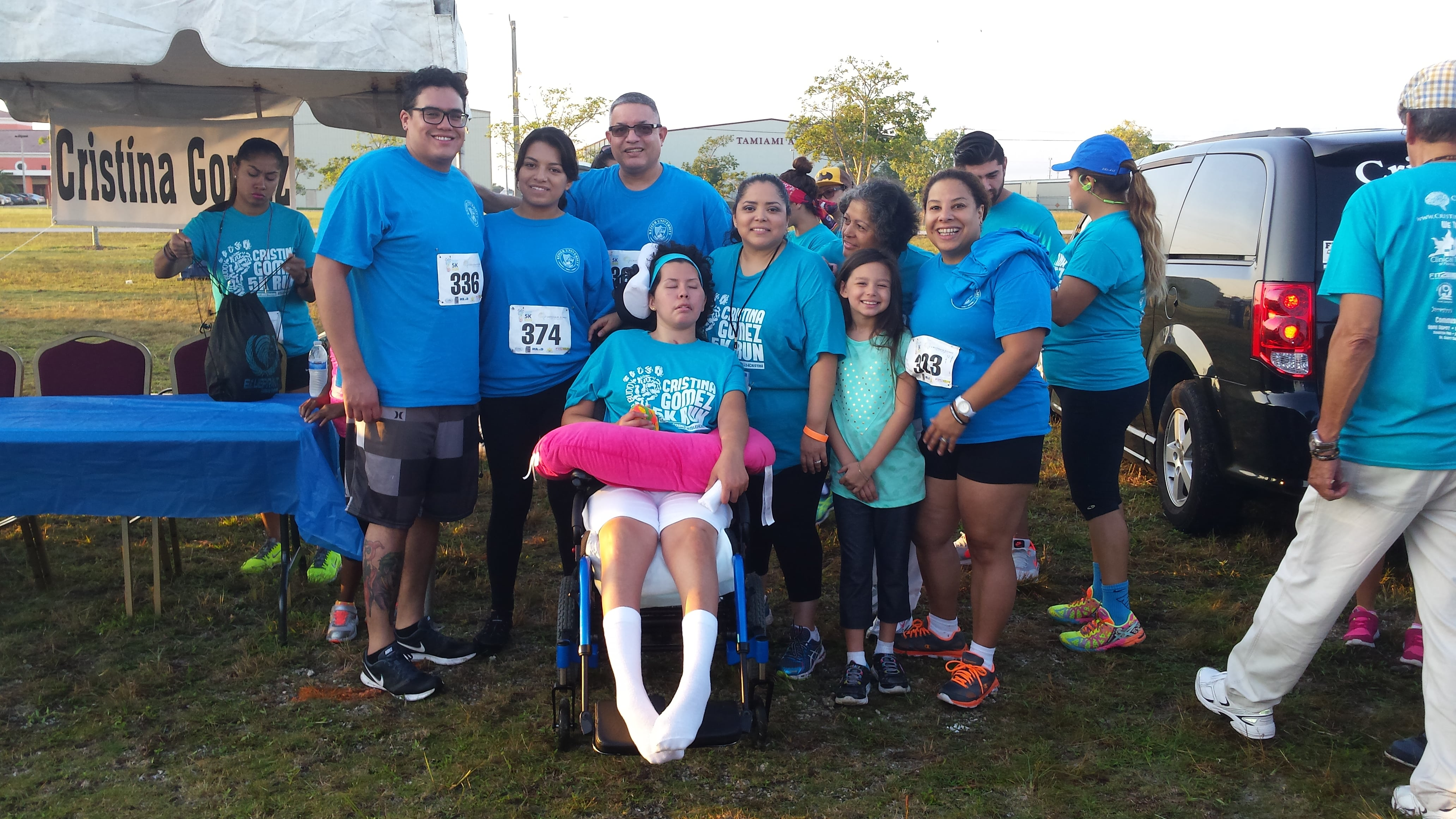 Miami Students Participate in the Cristina Gomez TBI Foundation 5K Run