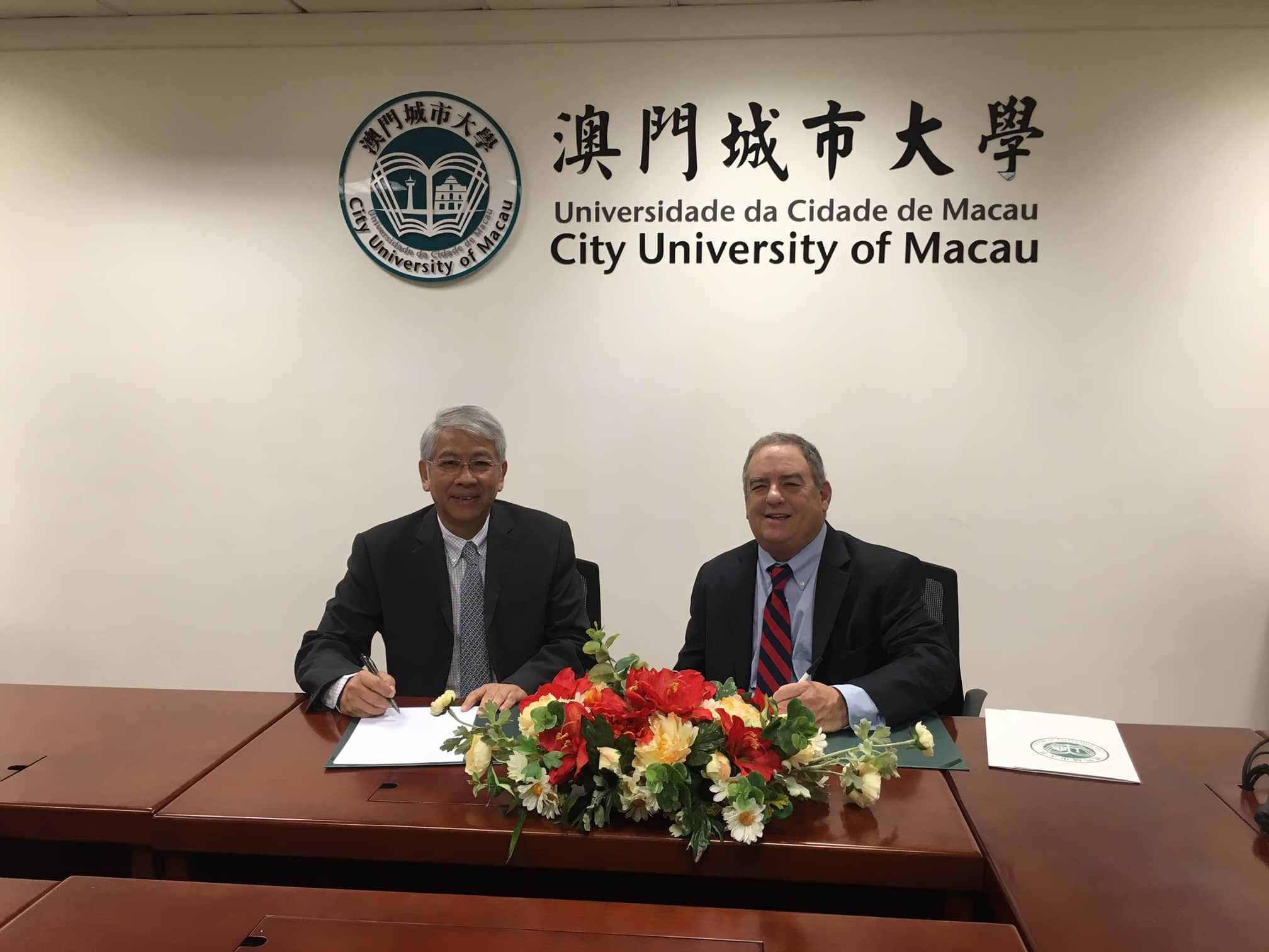 Arthur Keiser Ph.D. and City University of Macau signed Memorandum of Understanding