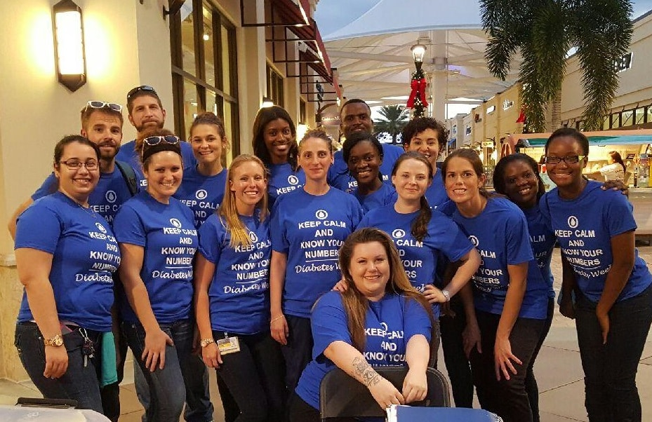Nursing Students from West Palm Beach Do Assessment Screenings at Diabetes Awareness Event