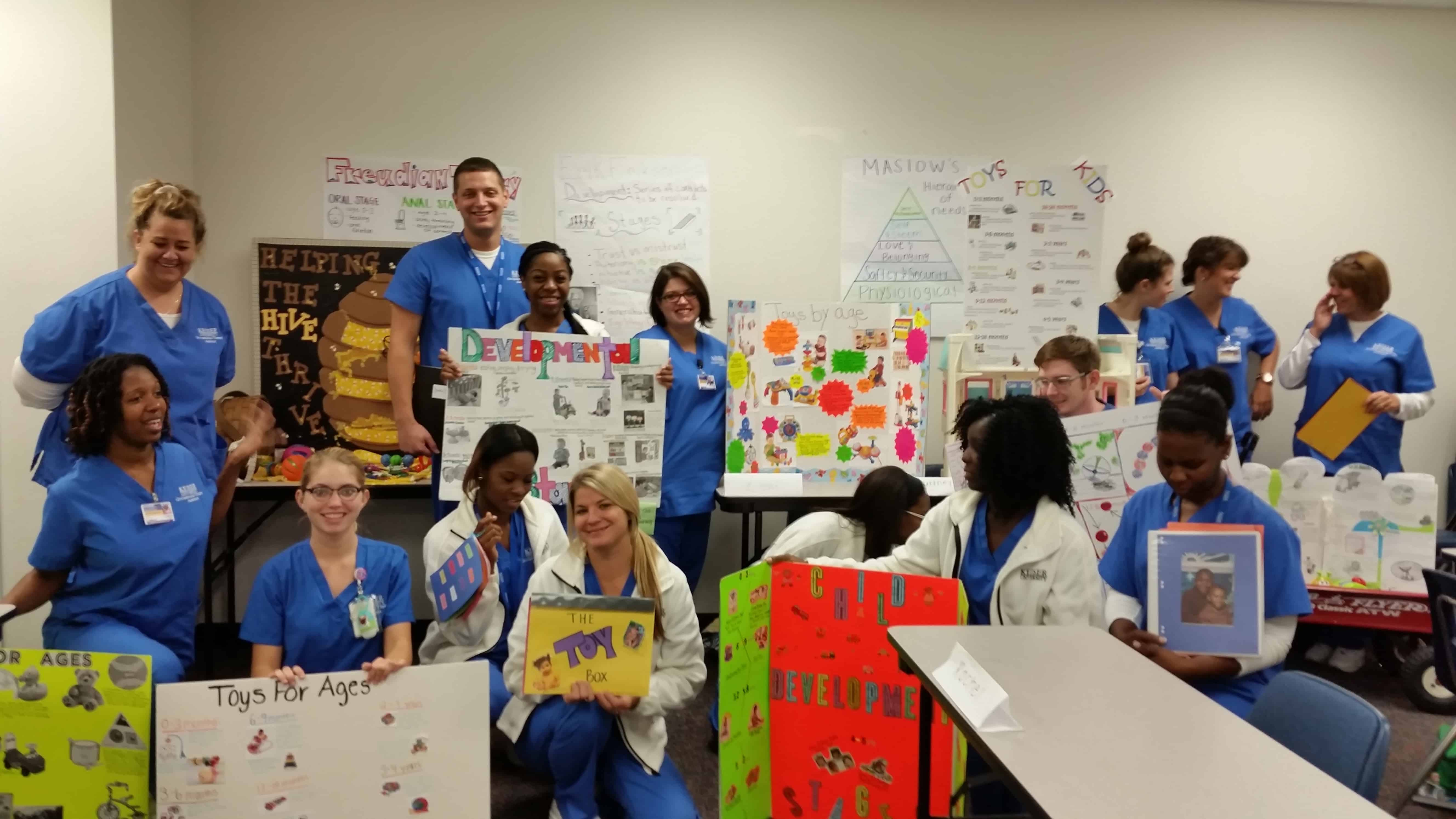 Tallahassee Occupational Therapy Assistant Students Work with Toys