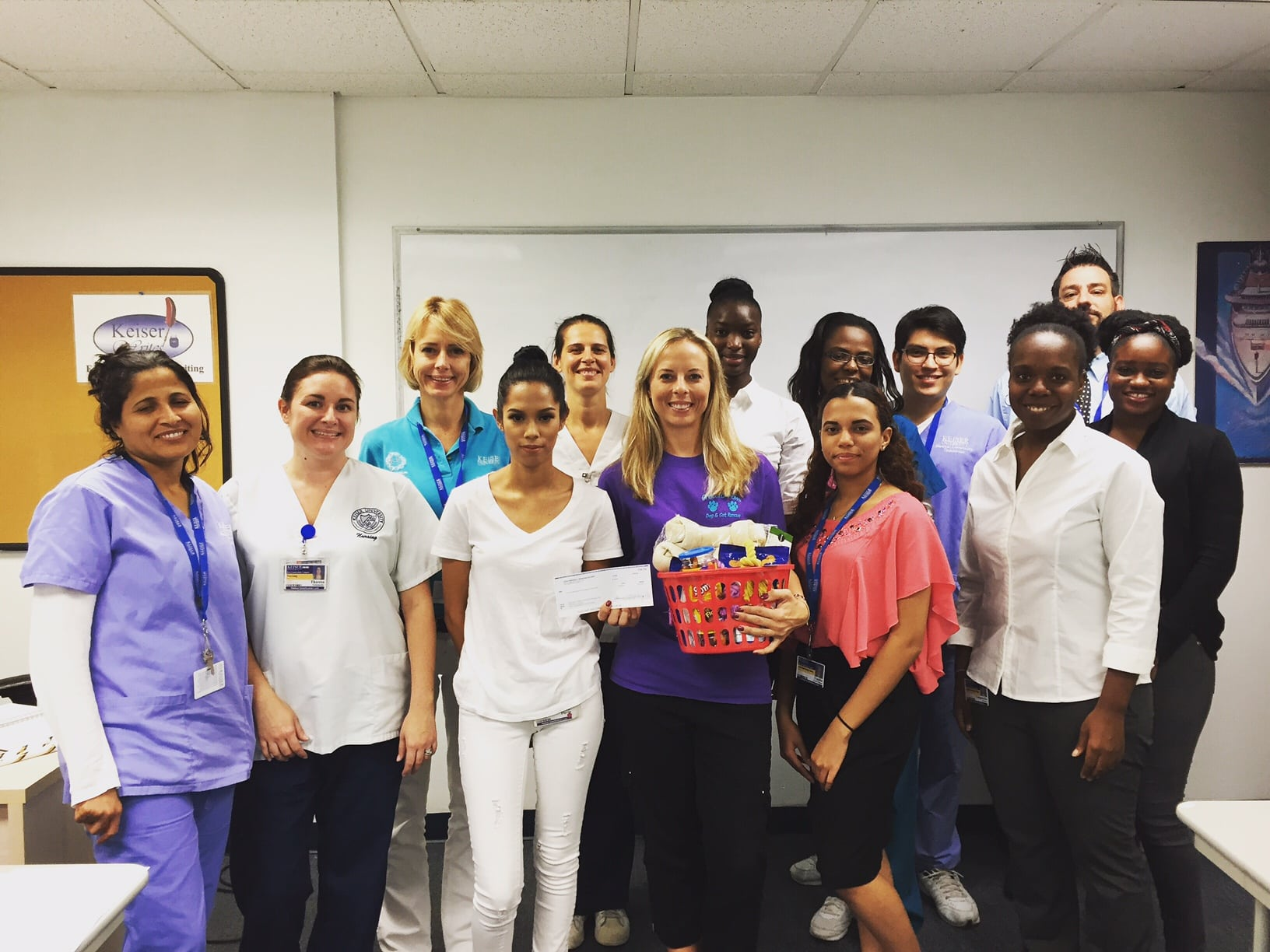 PTK Members at the Ft. Lauderdale Campus Make a Donation to Grateful Paws Cat & Dog Rescue