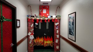 Door decorating contest Dec. 2015