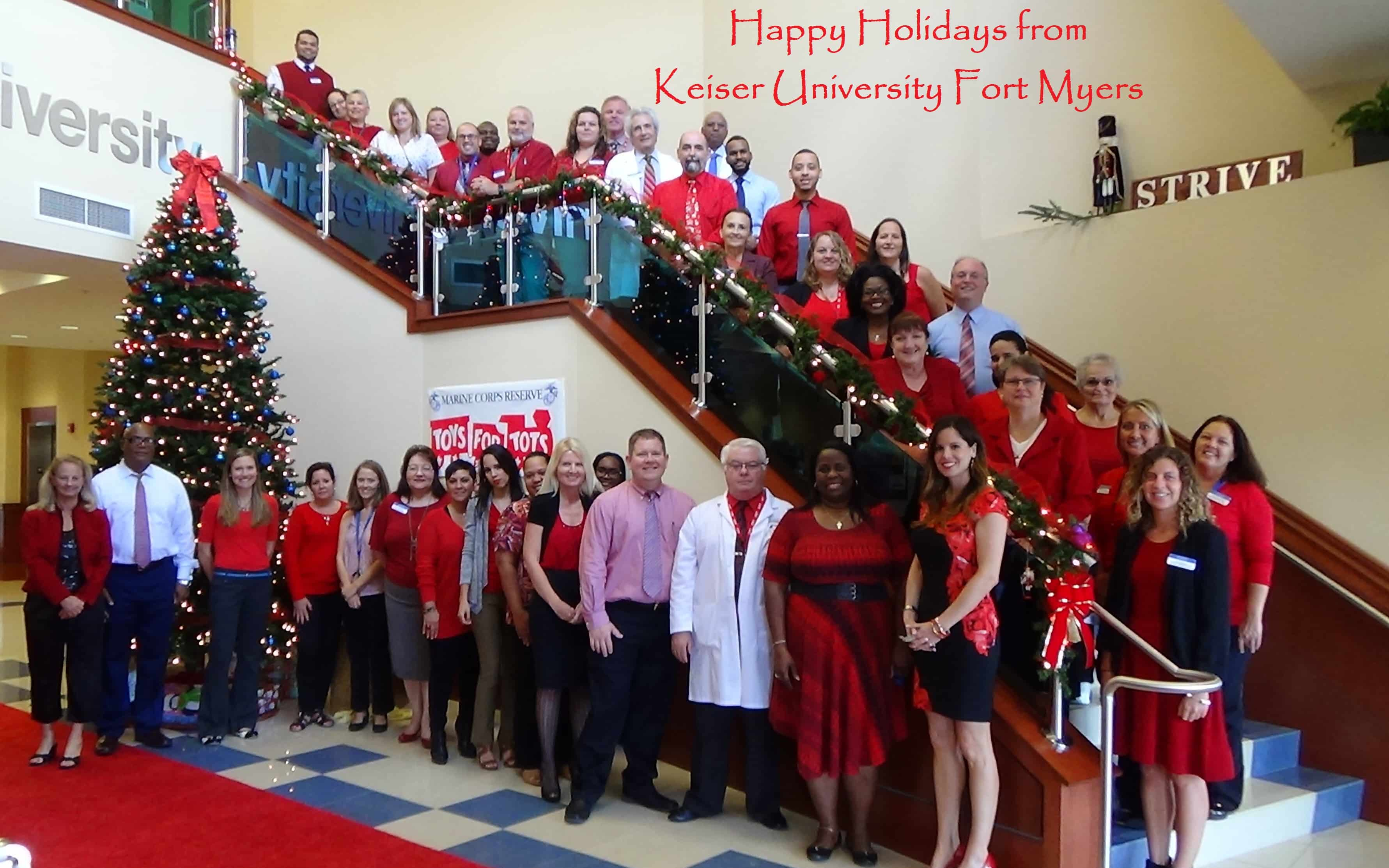 HAPPY HOLIDAYS FROM THE FT. MYERS CAMPUS