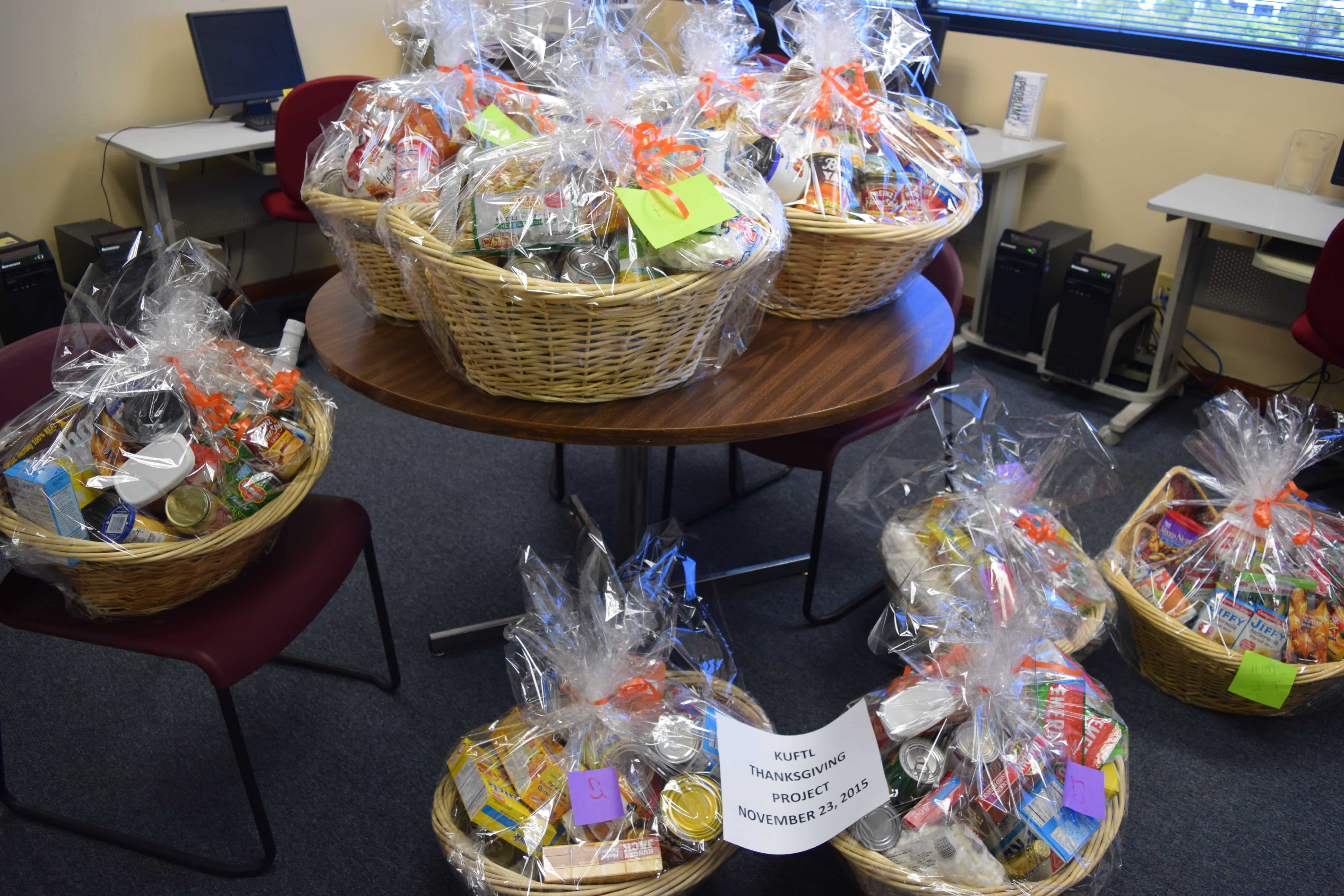 The Ft. Lauderdale Campus Created Baskets for Thanksgiving