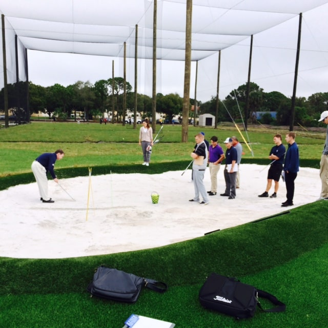 The Flagship Campus' Outdoor Golf Training Area Opened by Golf Swing Fundamentals Class