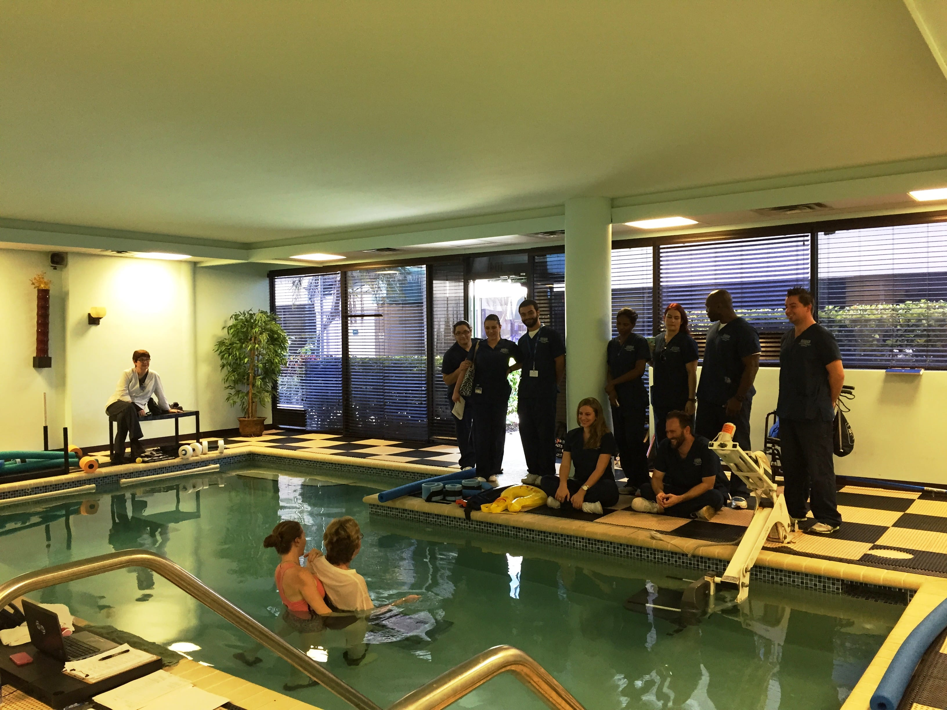 PTA Students from Ft. Lauderdale Learn About Aquatic Physical Therapy Techniques