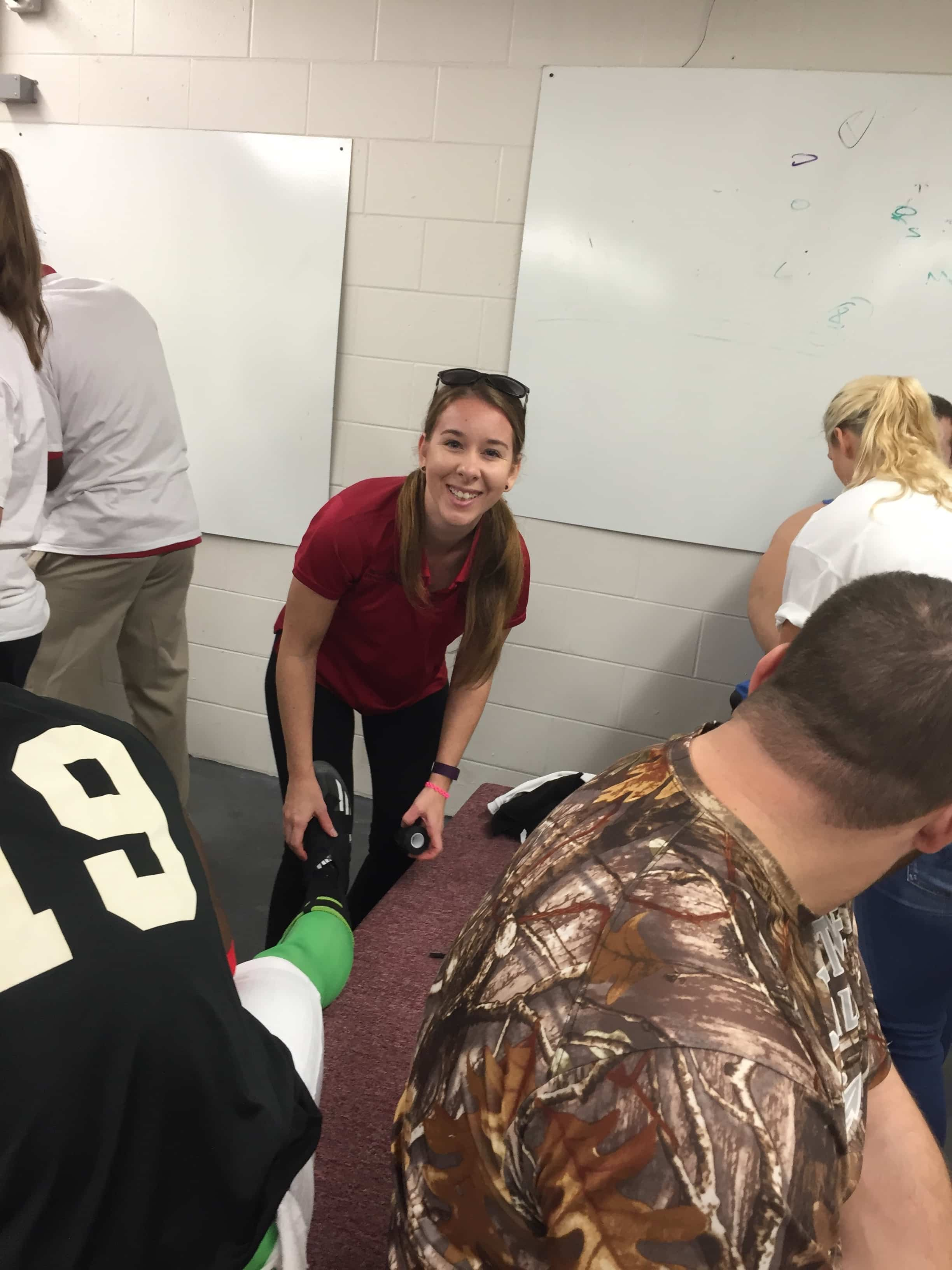 Sports Medicine and Fitness Technology Students from Daytona Work with All Stars