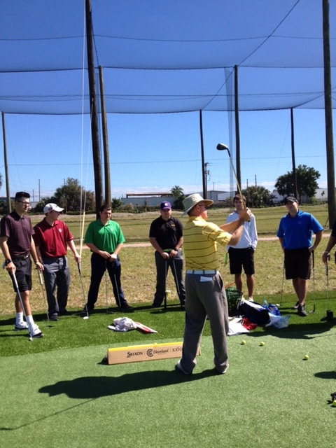 College of Golf & Sport Management Students Attend Impact Zone Golf Clinics