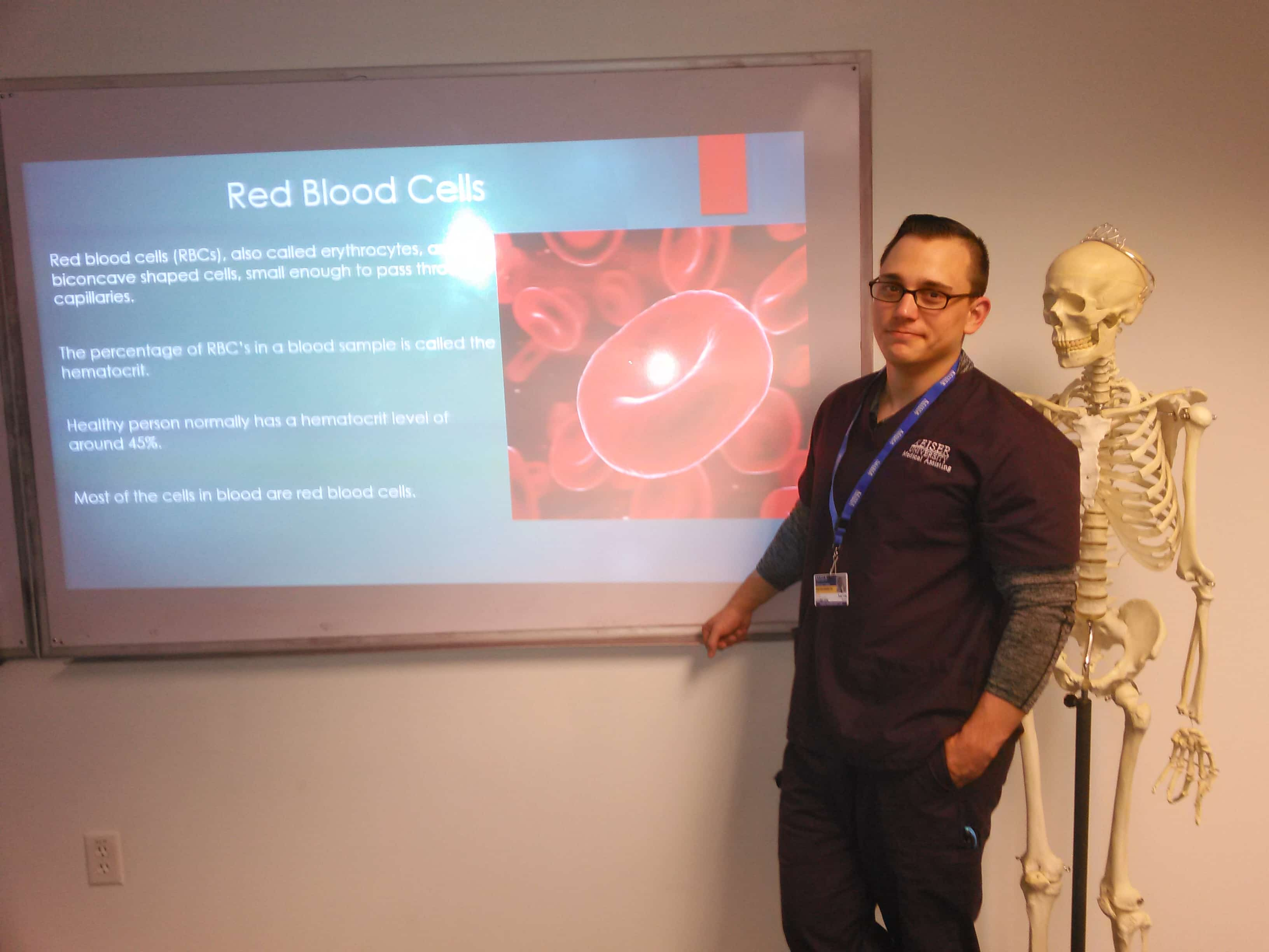 Medical Assisting Students at the Clearwater Gave a Lesson about Blood