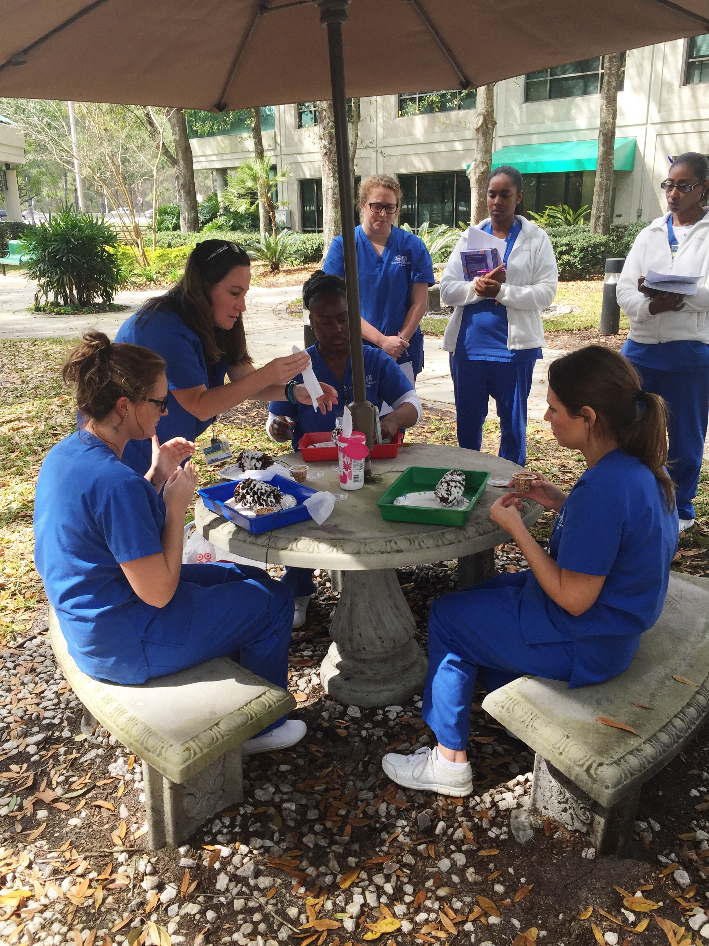 Occupational Therapy Assistant Students Work with Mock Patients