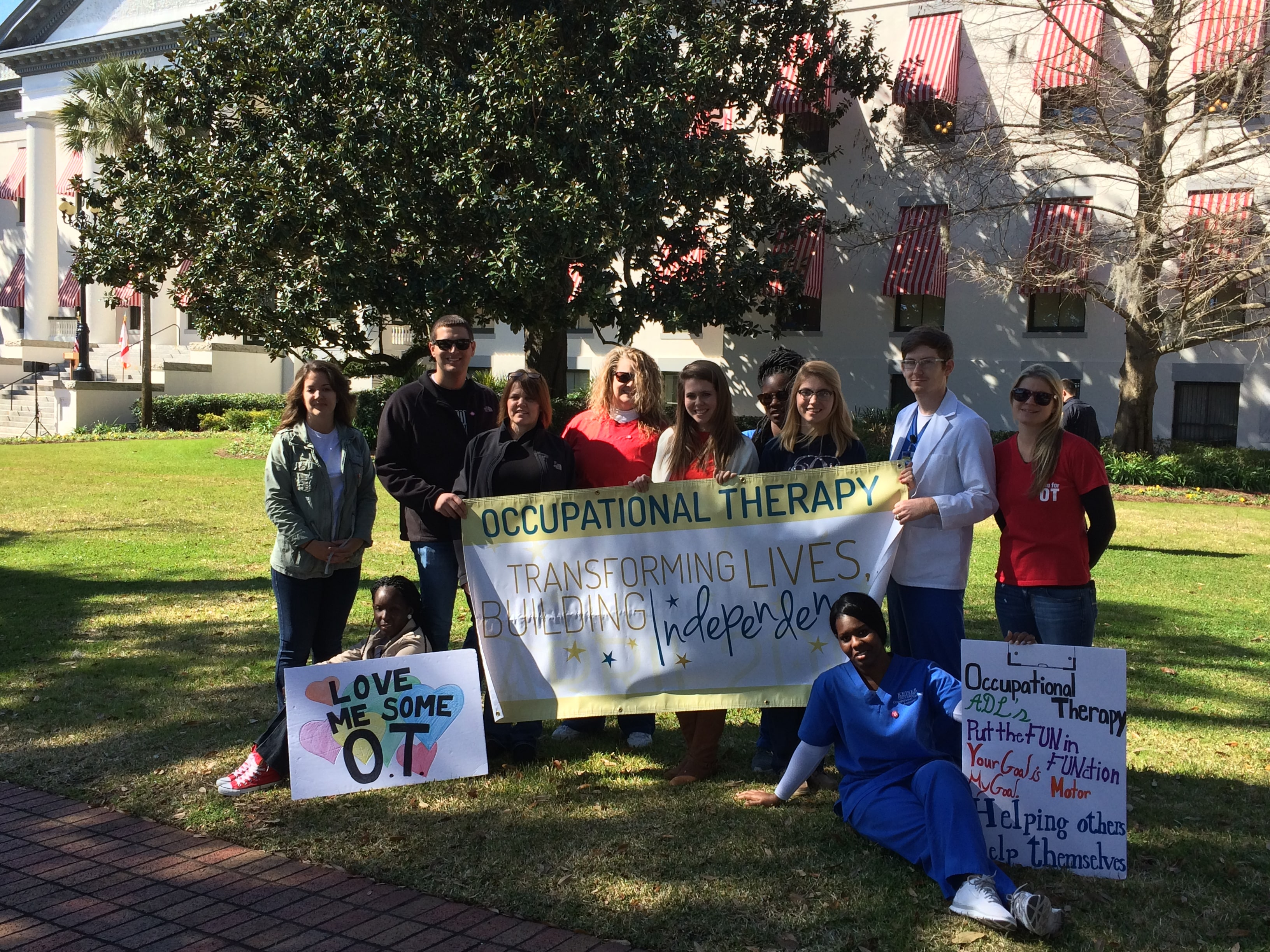 Tallahassee OTA Students Visit the Capitol with an Educational Message