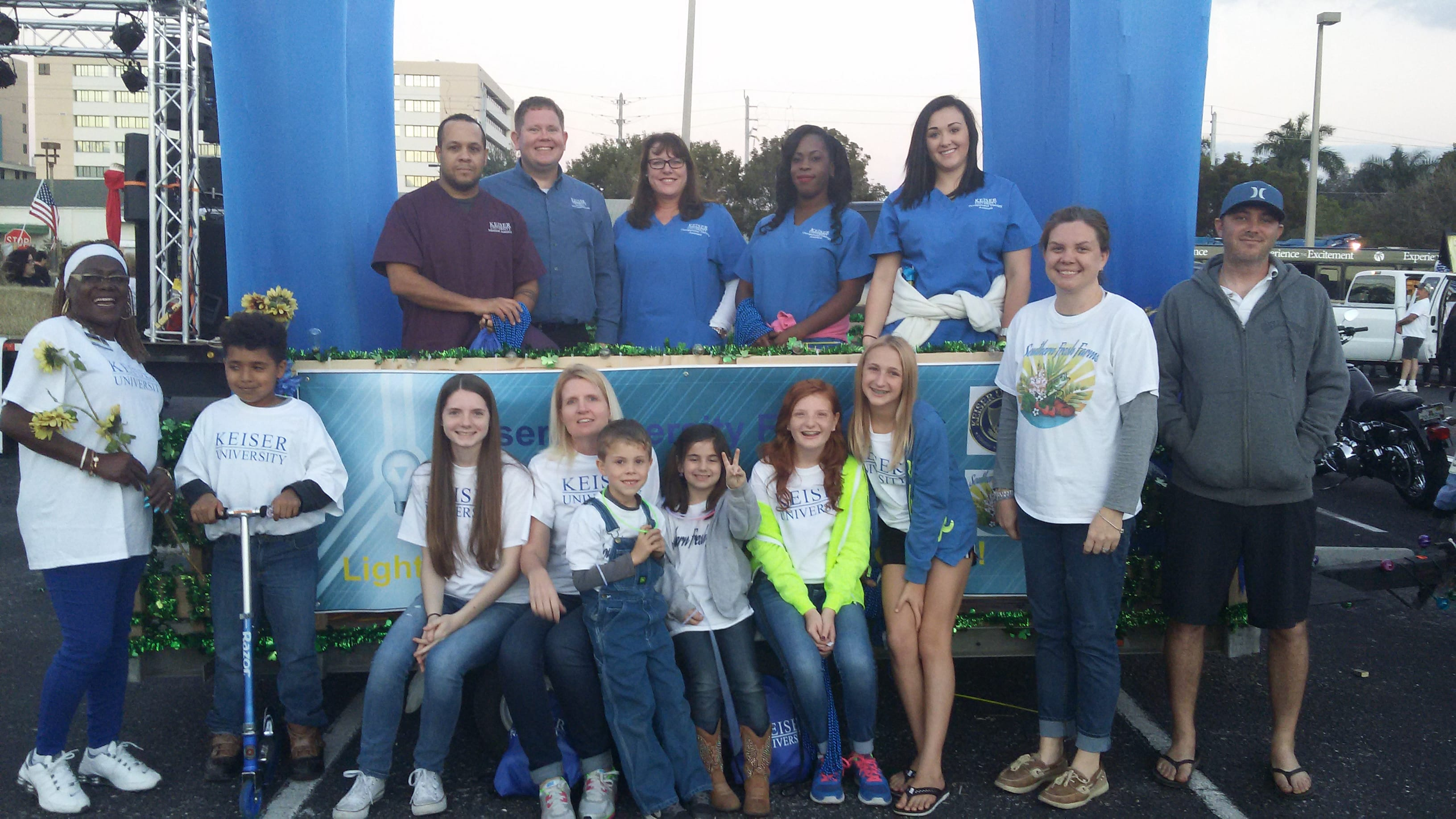 Keiser University Fort Myers and Southern Fresh Farms Team Up for Edison Grand Night Parade