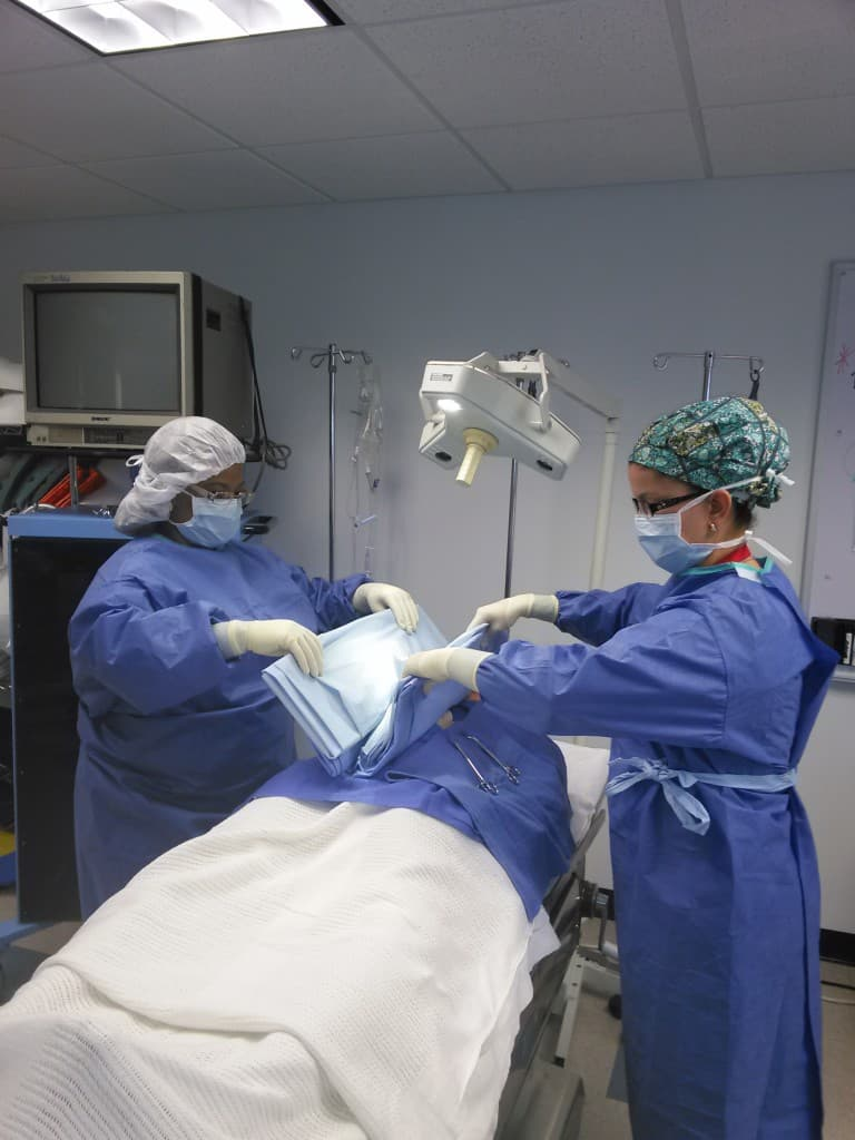 Keiser University Online >> Keiser University Clearwater Surgical Technology Students Practice Draping a Patient for Surgery ...