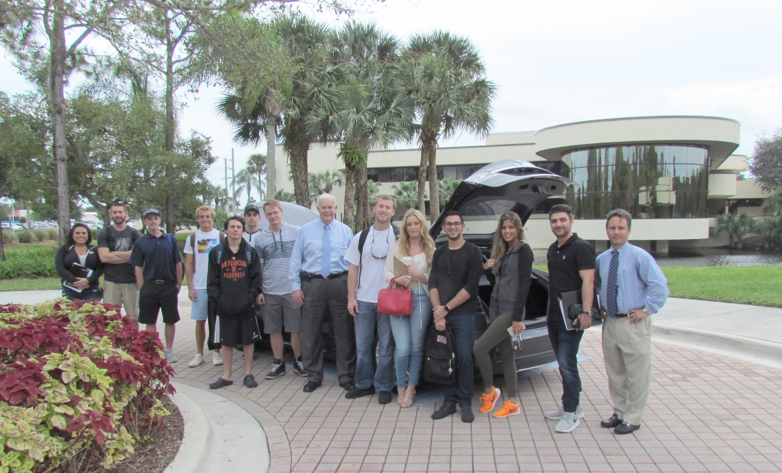 Flagship Campus Students Experience the Electric Tesla S Model First Hand