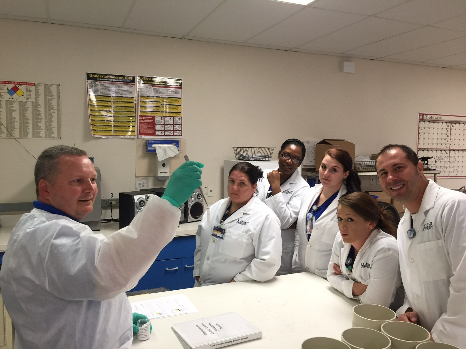 Nuclear Medicine Technology Students View a Working Radiopharmacy