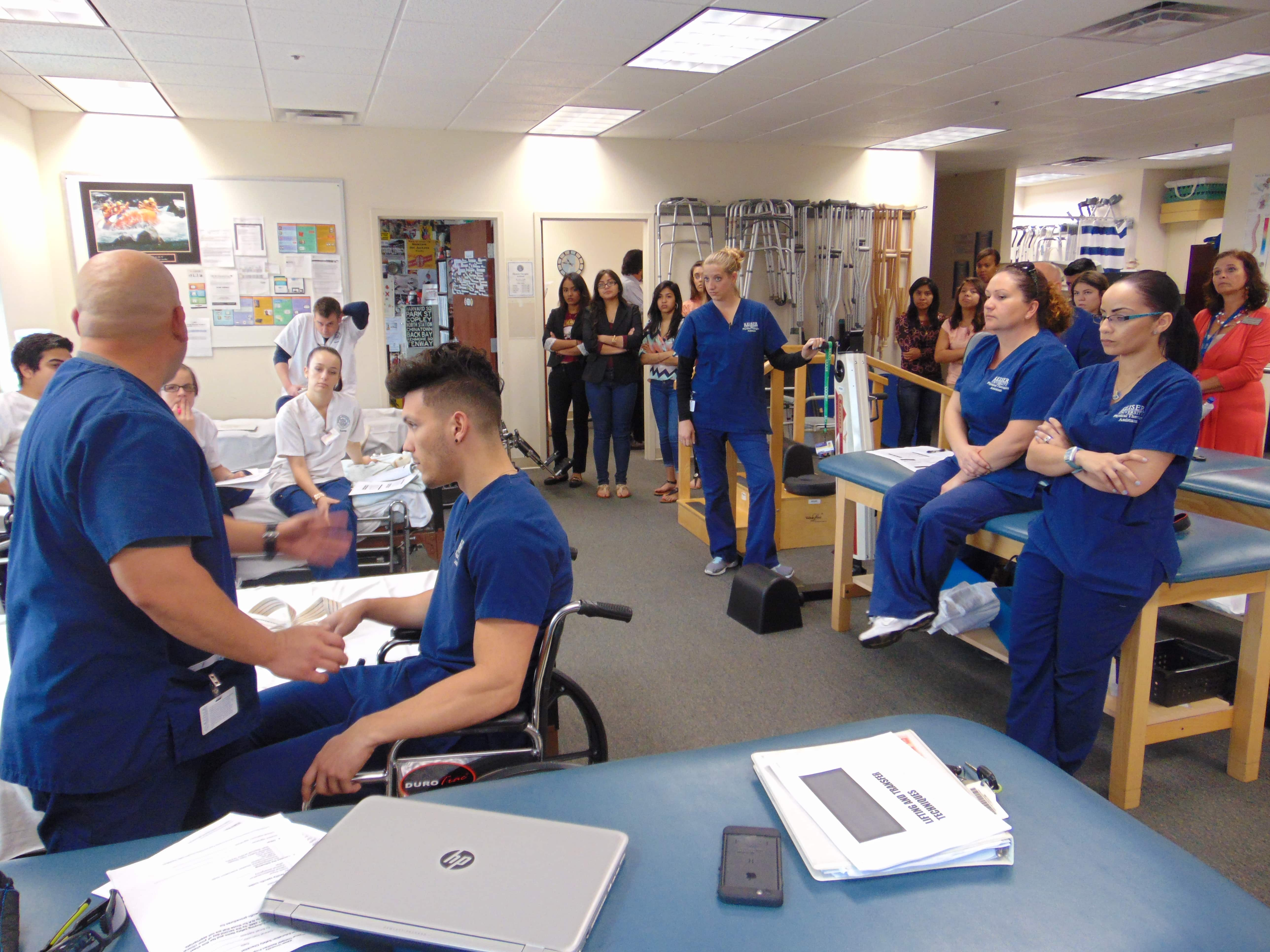 PTA and Nursing Students Participate in a Campus In-Service