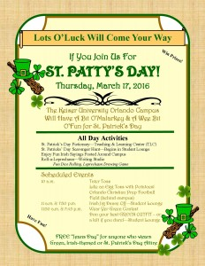 St. Patrick's Day Flyer 2016