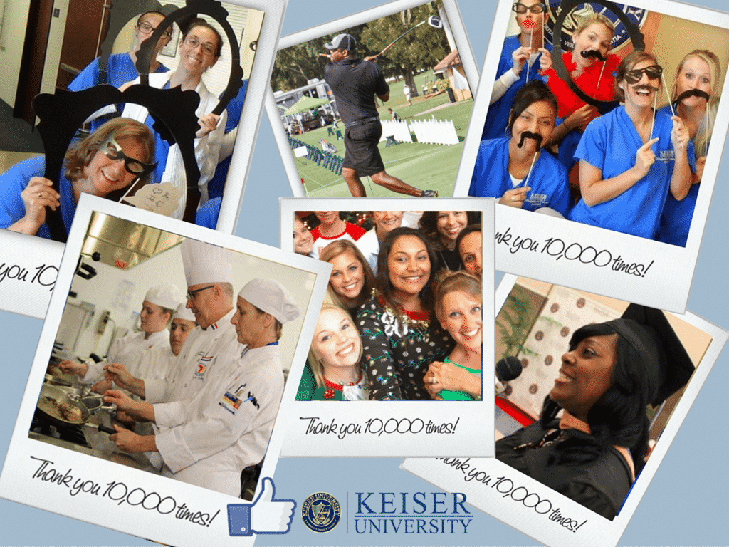 Did you Hear?  Keiser University's Facebook Page is at 10,000 Likes!!!