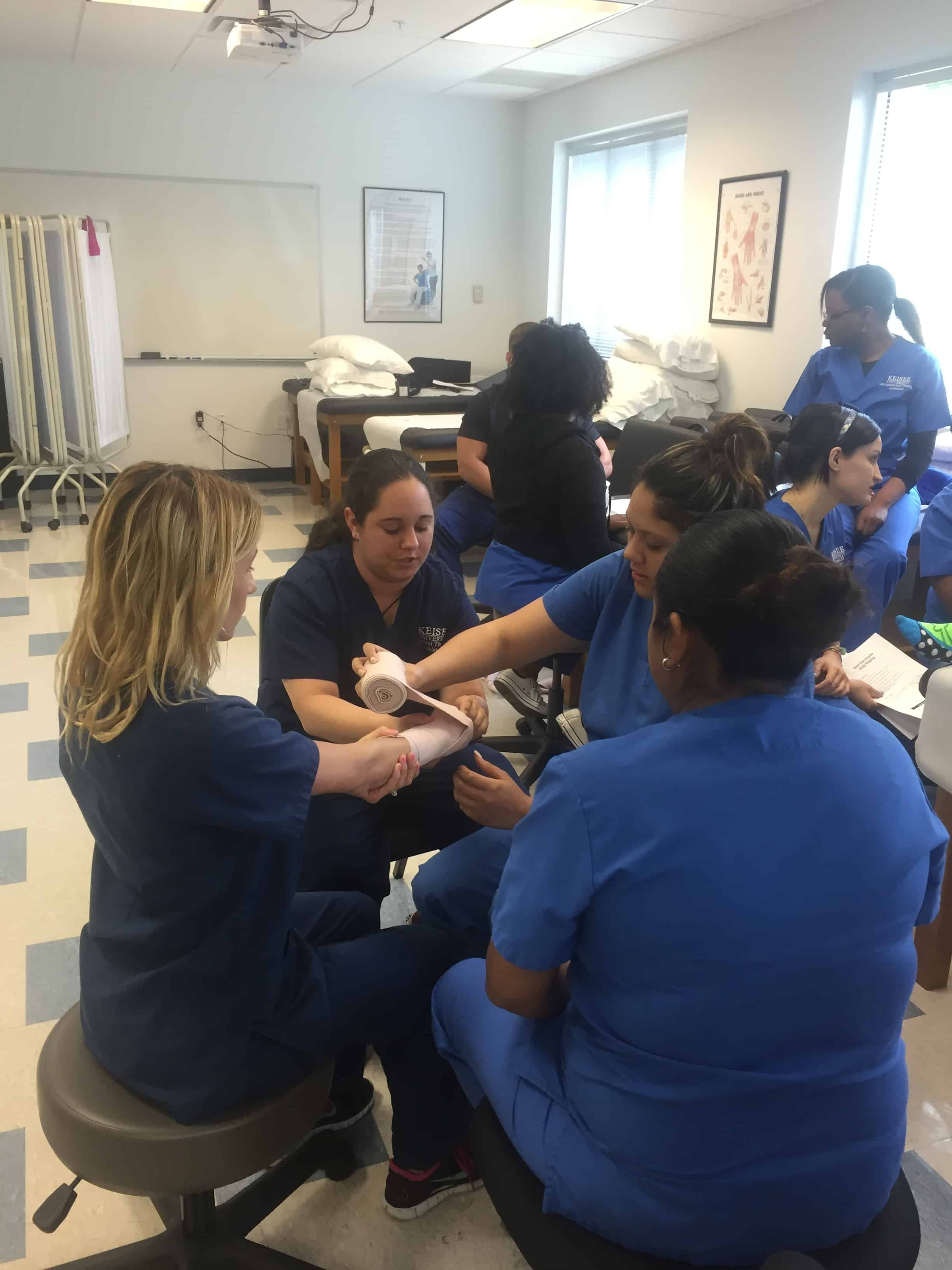 Physical Therapy Assistant & Occupational Therapy Assistant Students Learn From One Another