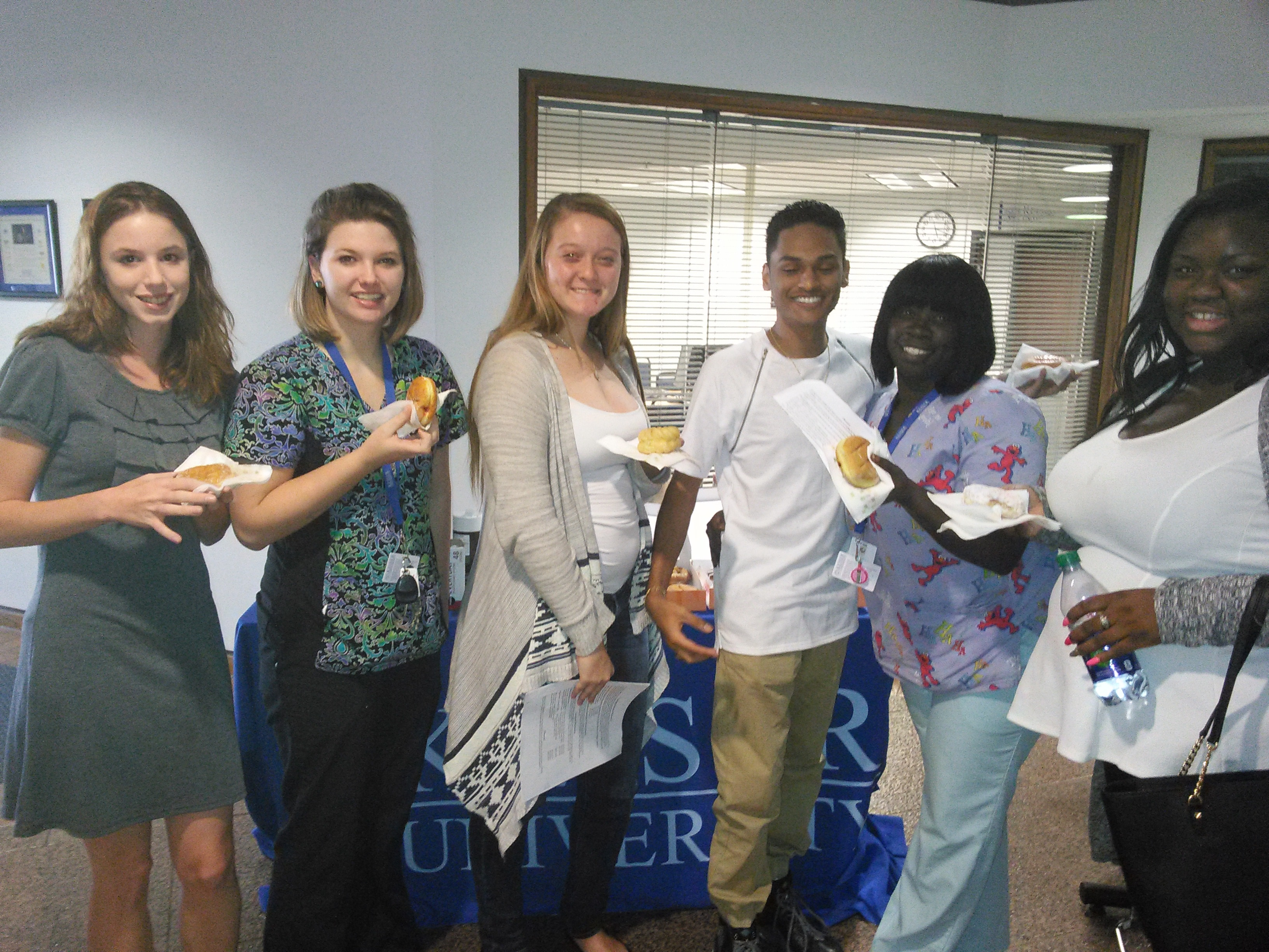 Keiser University Clearwater Students Enjoy Coffee and Donut Break