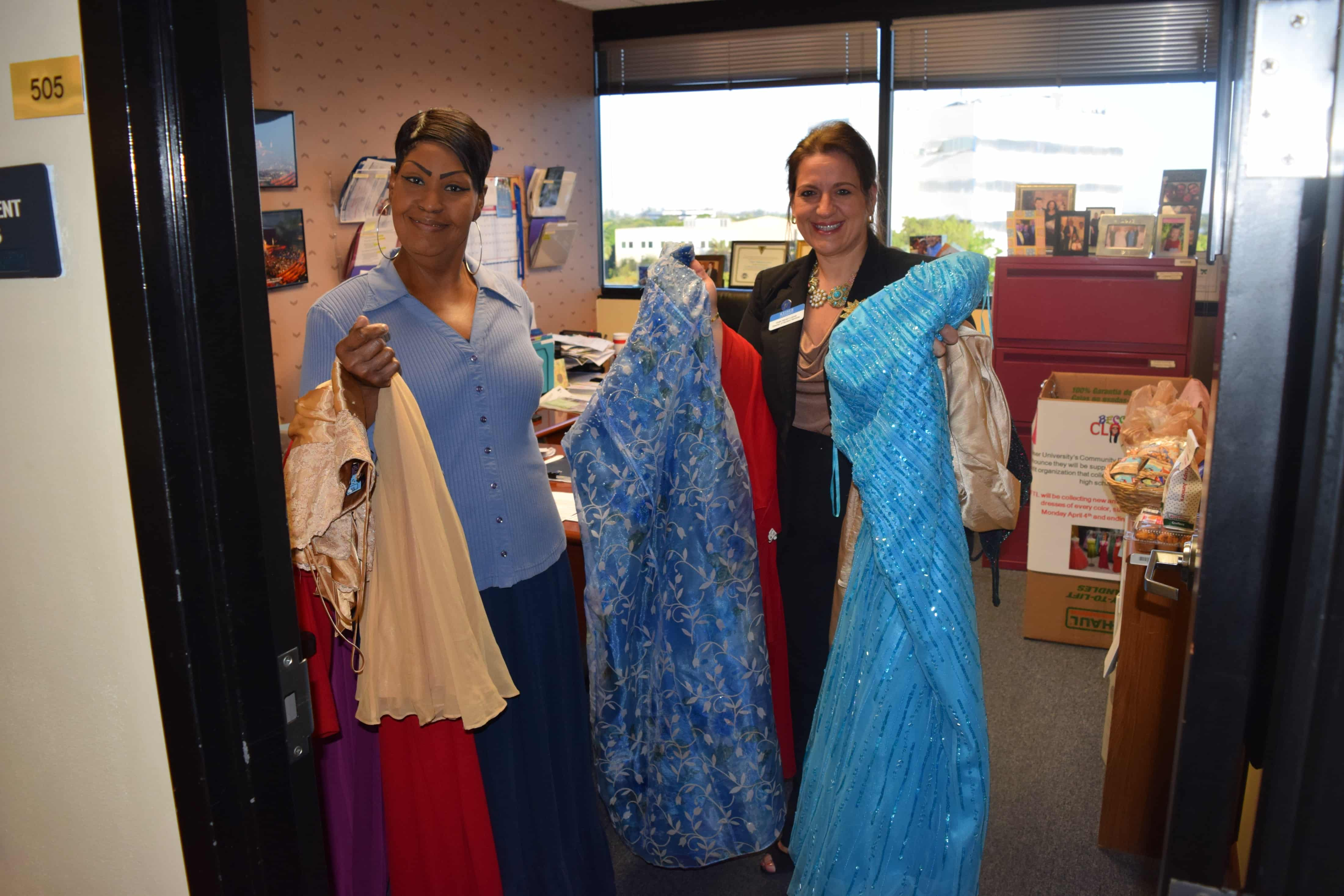 Becca's Closet Receives Donated Prom Dresses from the Ft. Lauderdale Campus