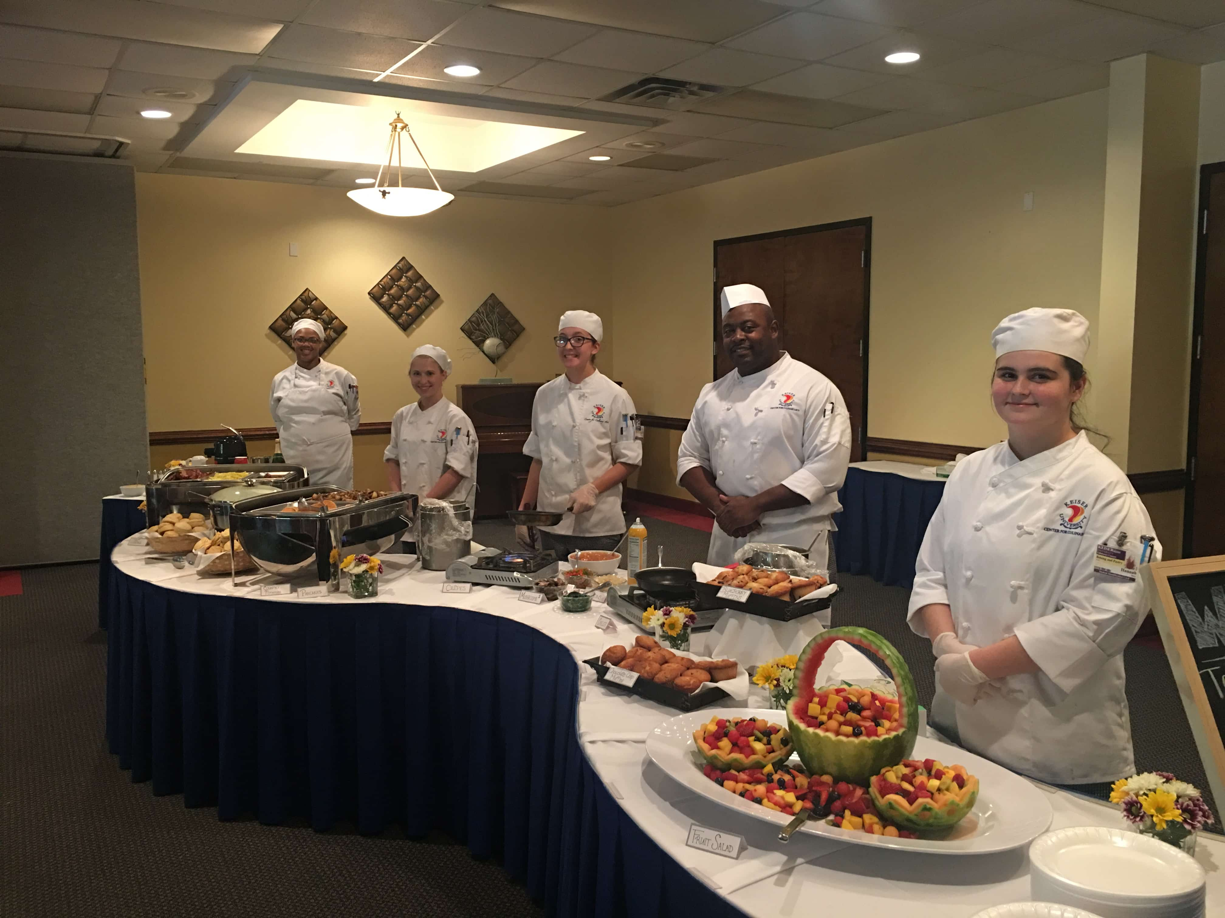 Keiser University Online >> Tallahassee Culinary Students Create and Staff a Full Breakfast Buffet - Keiser University