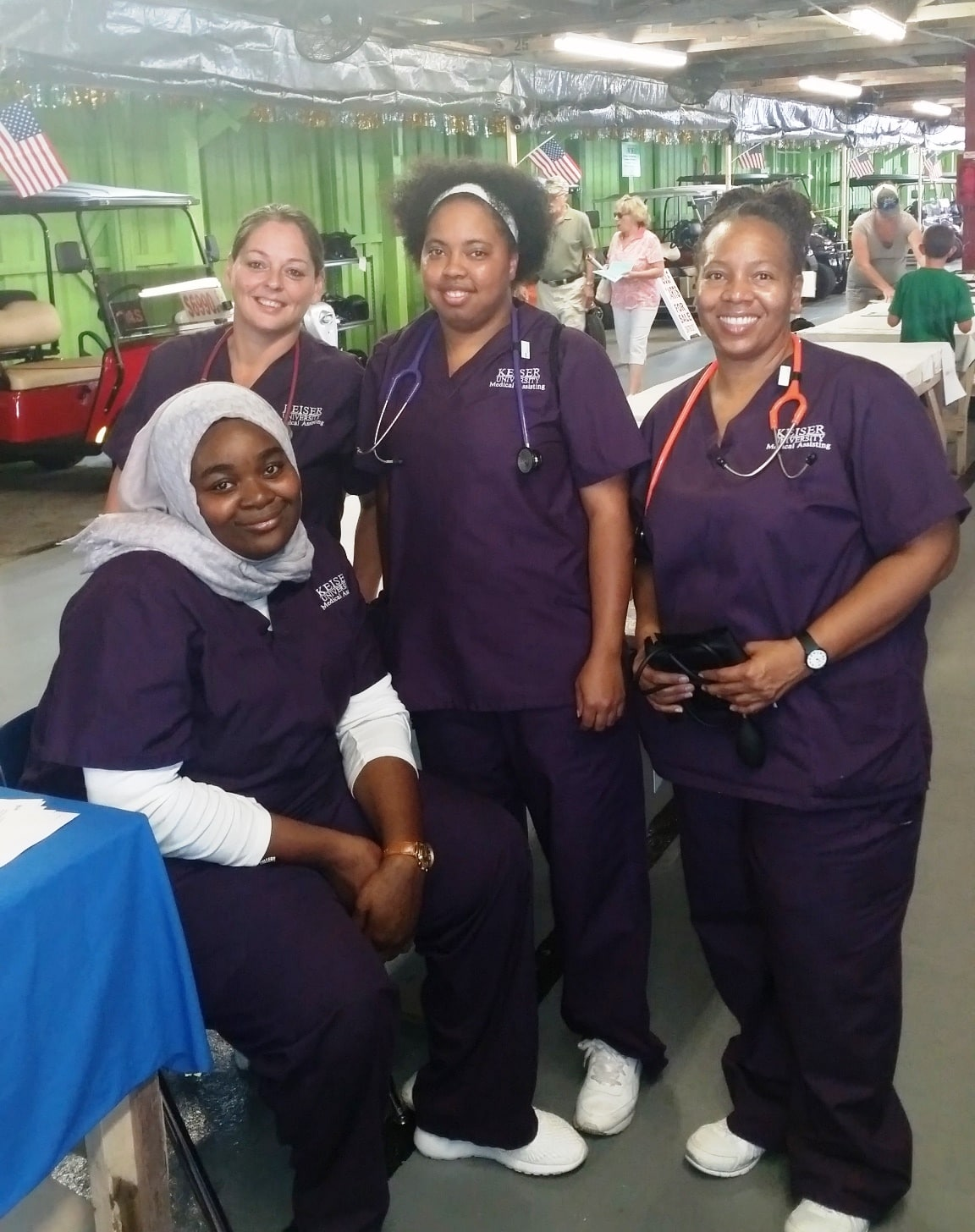 Students from Daytona Beach Participate in a Wellness and Health Fair