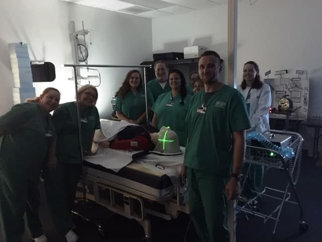 Radiation Therapy Students in Melbourne Use Laser System