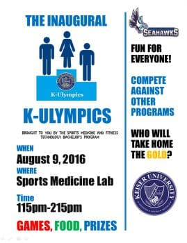 K-Ulympics Flyer Image Aug. 2016