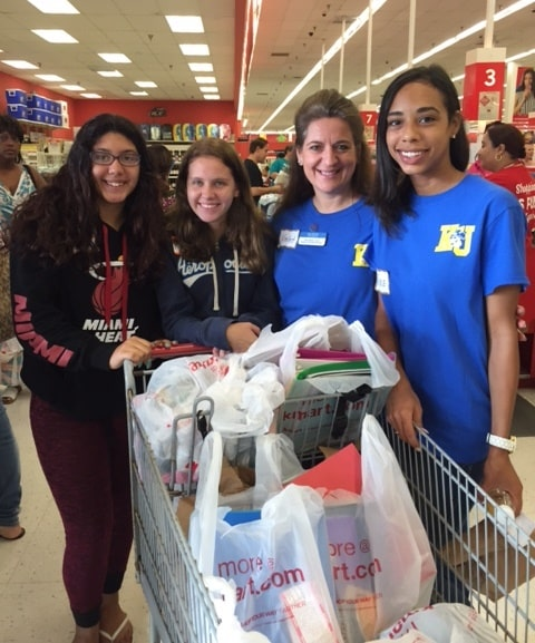 Ft. Lauderdale Participates in a Back-to-School Shopping Spree for the Jaycees