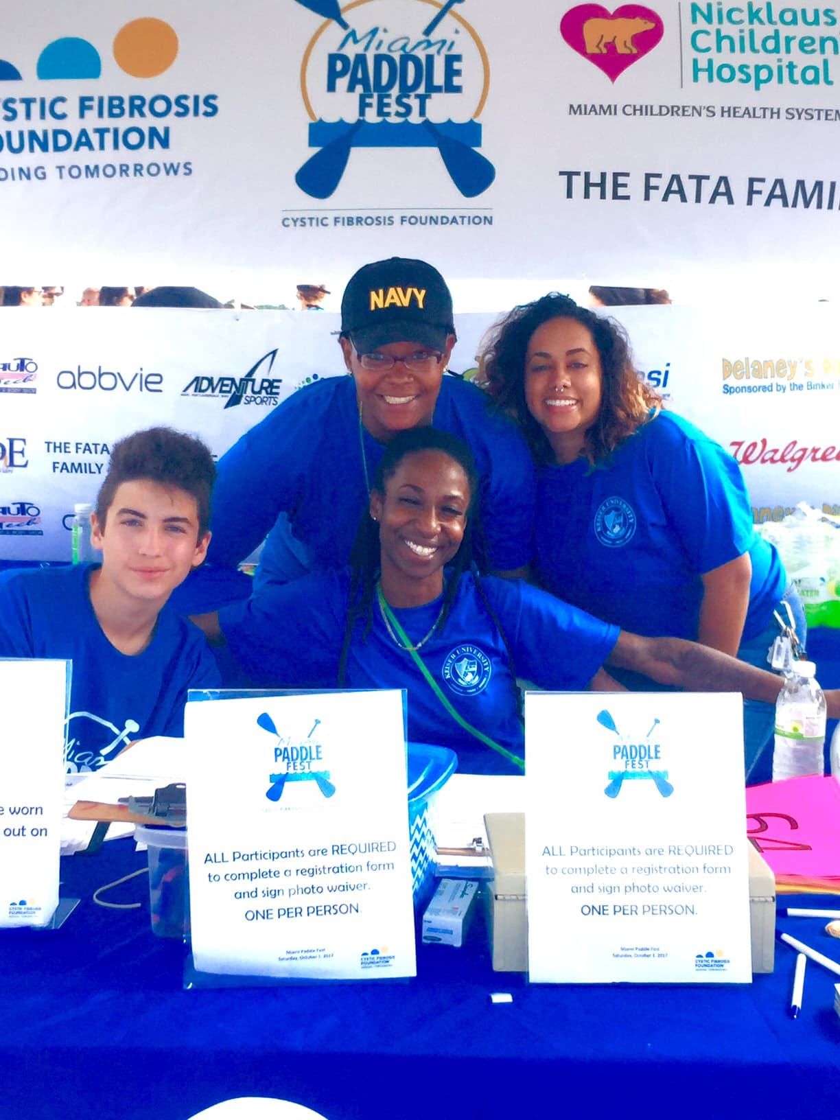 The Miami Campus Volunteers at a CFF Event