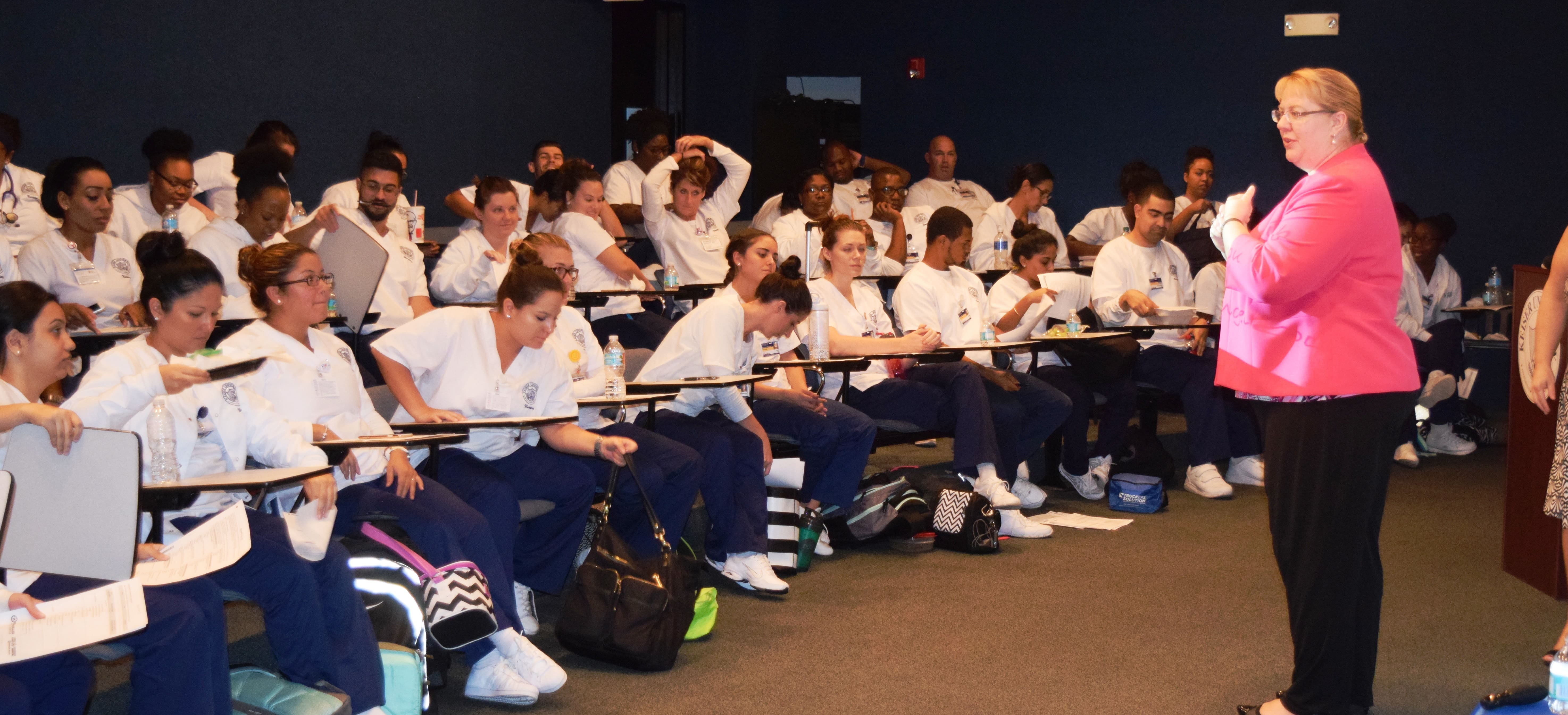 Nursing Students at Ft. Lauderdale Campus Visited by a Representative of Broward Health Medical Center